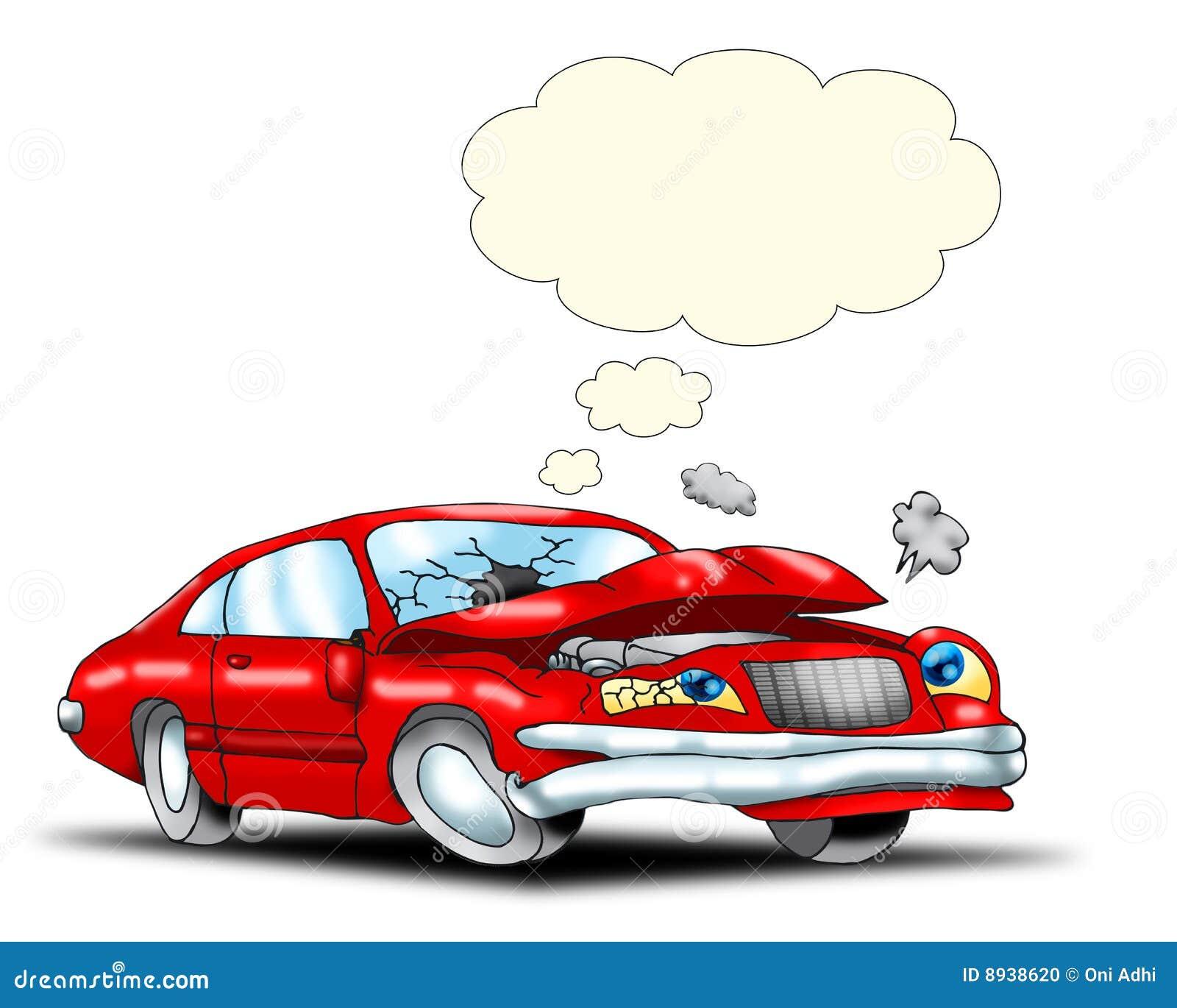 Kraksa samochodowa smutna