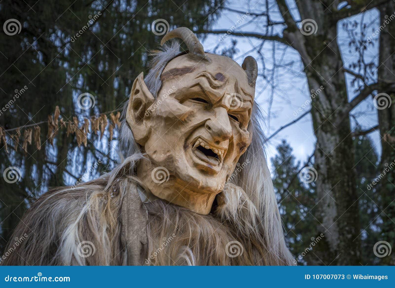Krampus Or Devil Mask Salzburg Austria Stock Image Image Of