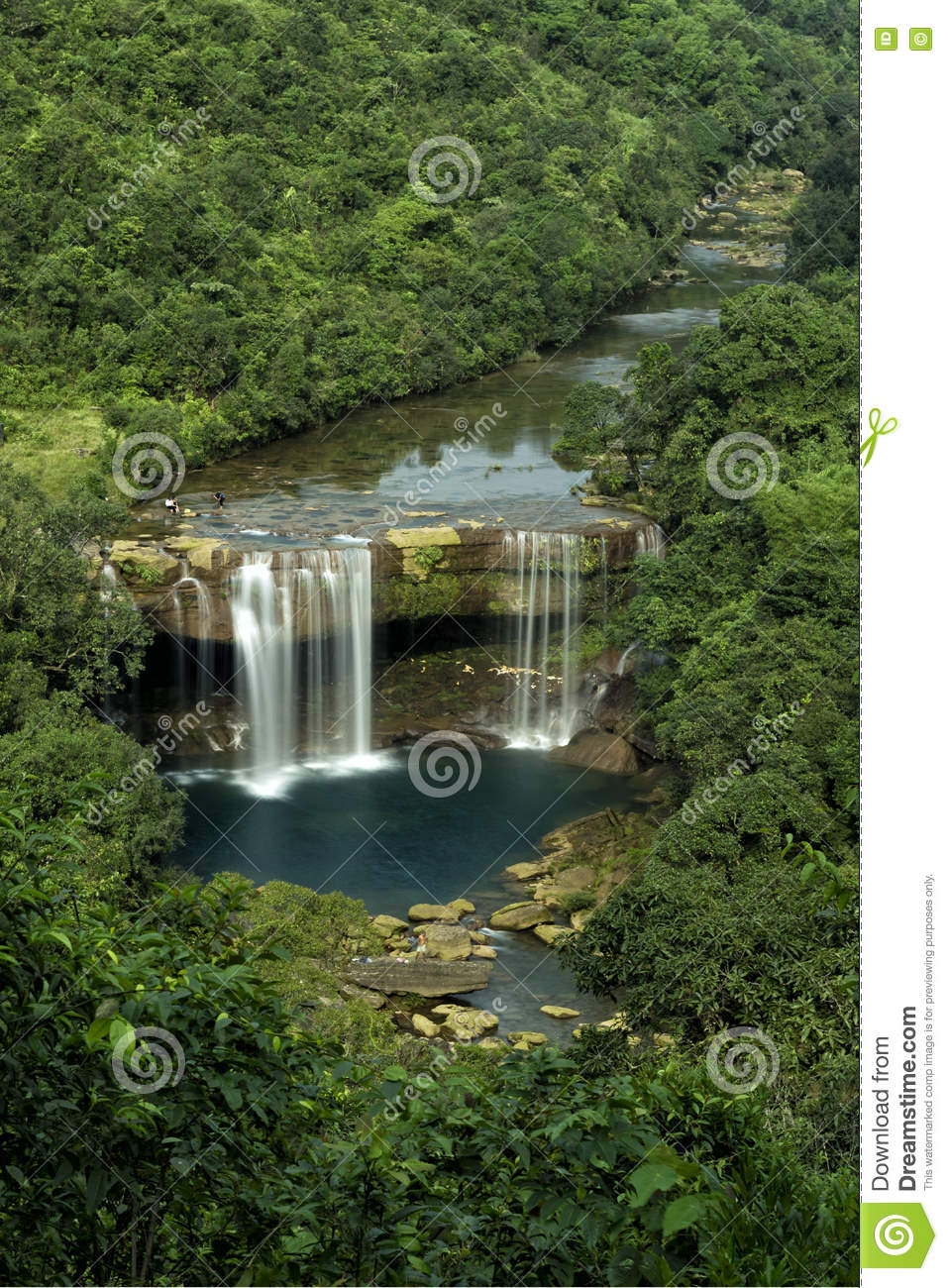 Krang Suri Waterfall Stock Photo Image 74315770