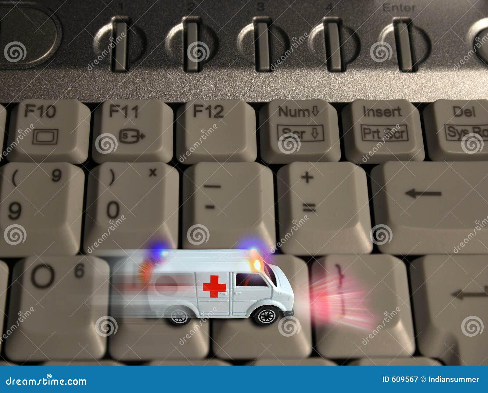 Krankenwagenkonzept - Technologiegesundheitspflege