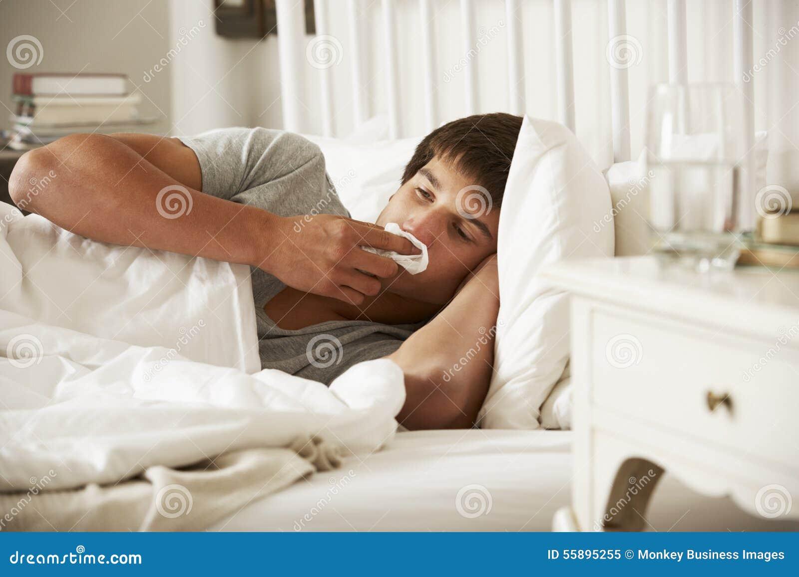 Eitelkeit Bett Teenager Beste Wahl Pattern Kranker Im Zu E Stockbild -