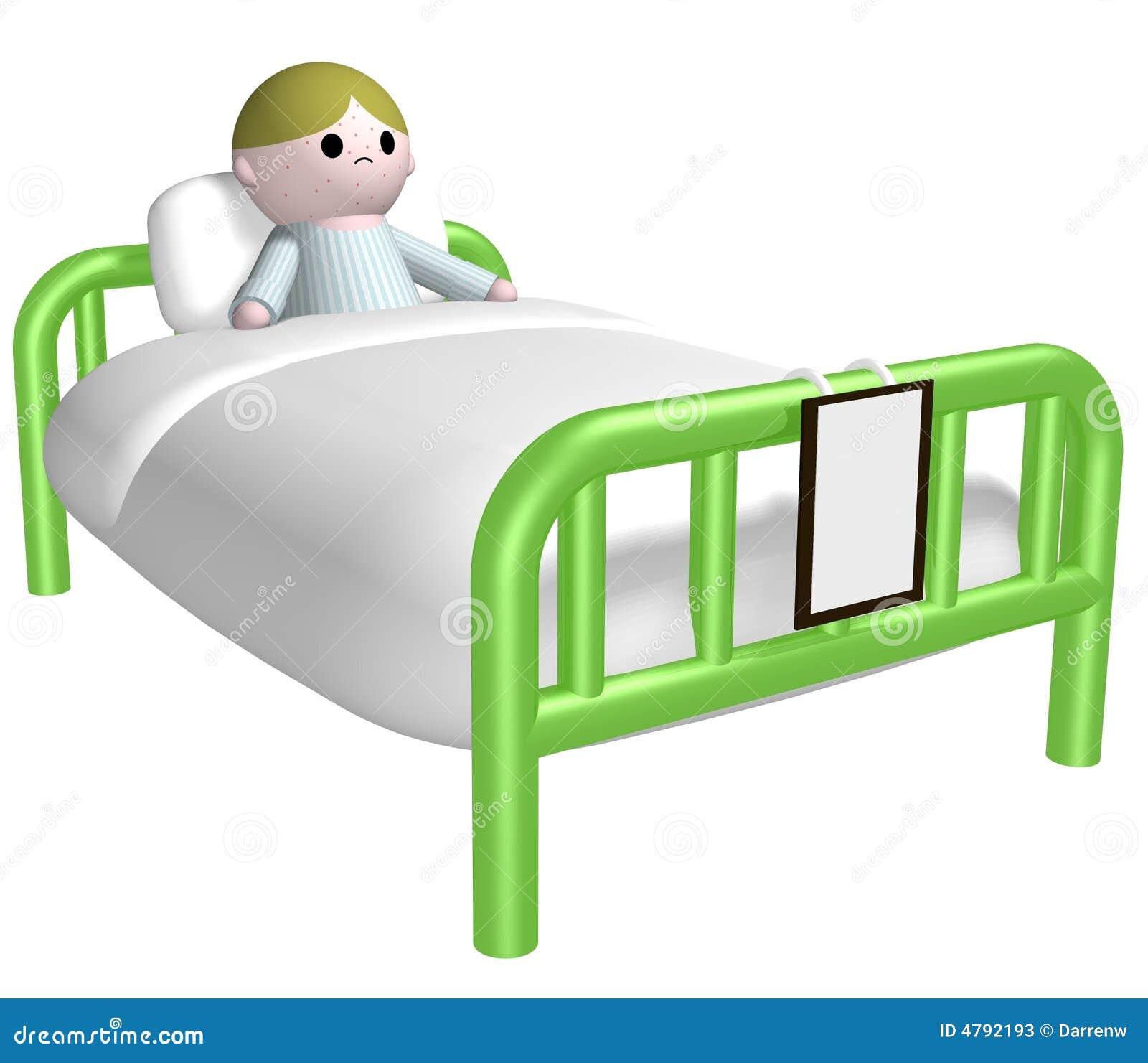 Krankes Kind Im Bett Stock Abbildung Illustration Von Kind 4792193