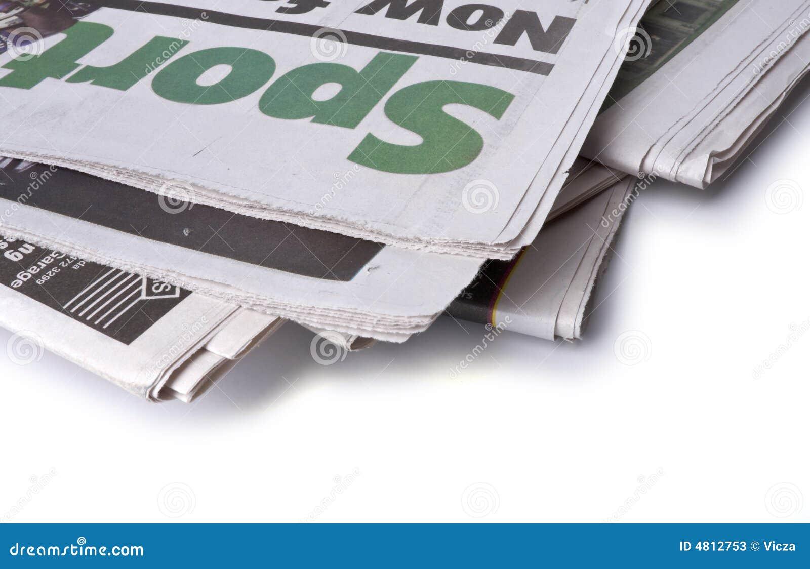 Krant - de sportenpagina s