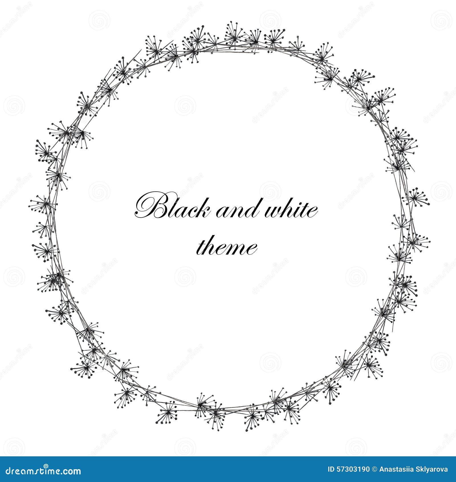 Kranz (Rahmen) Des Schwarzen Fenchels Stock Abbildung - Illustration ...