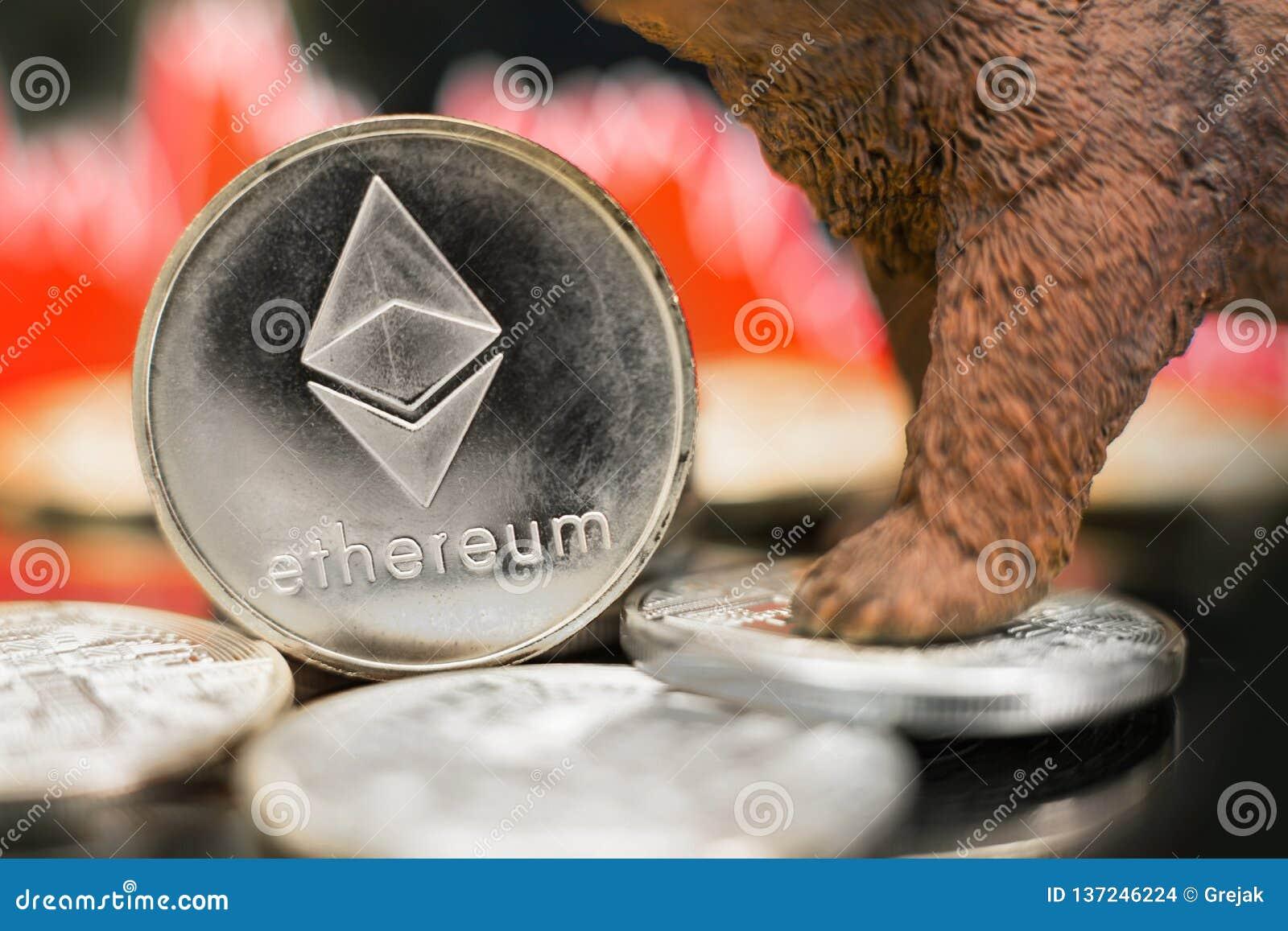 Krasch Ethereum crypto för rått pris