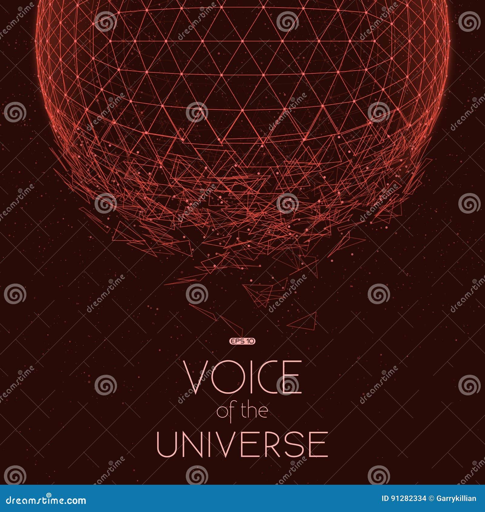 Krascha den röda utrymmesfären Abstrakt vektorbakgrund med mycket små stjärnor Glöd av solen från botten
