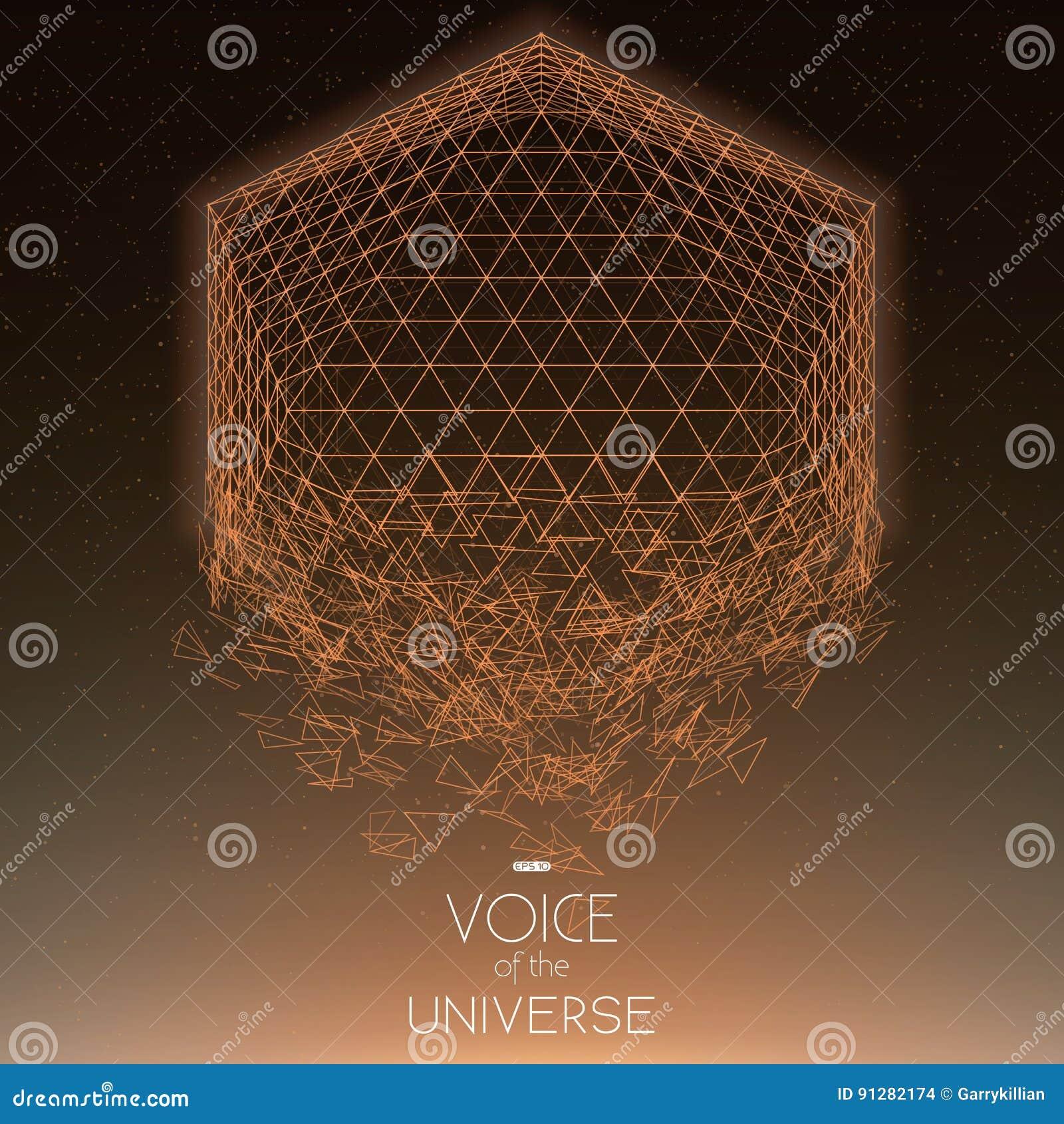 Krascha orange objekt för utrymme Abstrakt vektorbakgrund med mycket små stjärnor Glöd av solen från botten