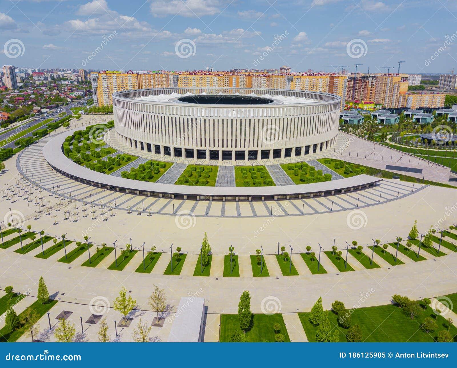 Krasnodar Russia April 2020 Aerial View Of Fc Krasnodar Stadium Editorial Image Image Of Cityscape Europe 186125905