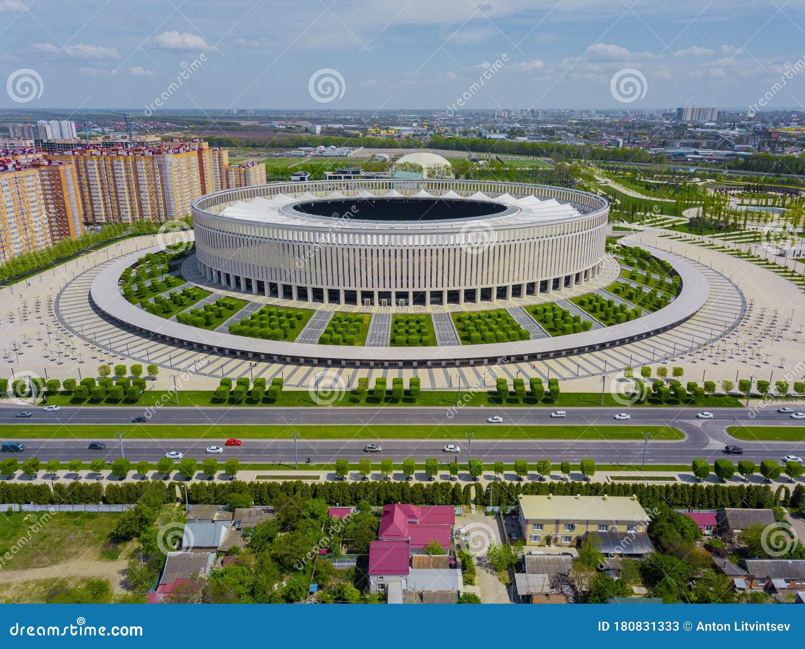 Krasnodar Russia April 2020 Aerial View Of Fc Krasnodar Stadium Editorial Stock Photo Image Of Landmark Travel 180831333