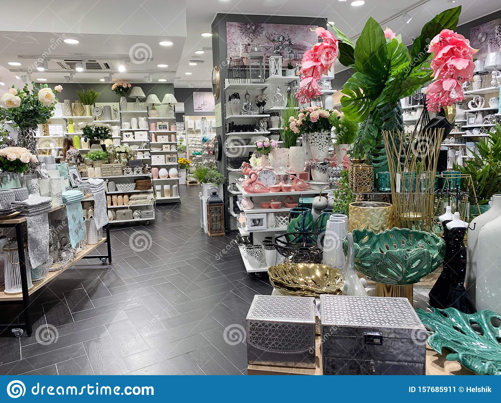 Home Decorations In Decorations Store. Modern Textile Shop For