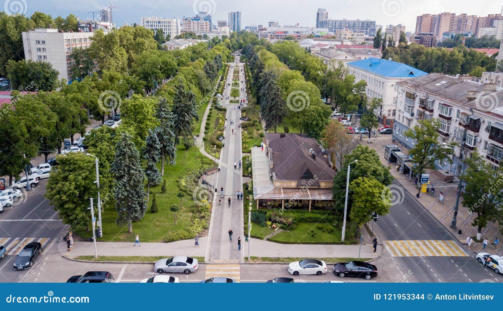 Krasnodar Russia July 2018 Krsanaya Street Editorial Stock Image Image Of Zone Hill 121953344