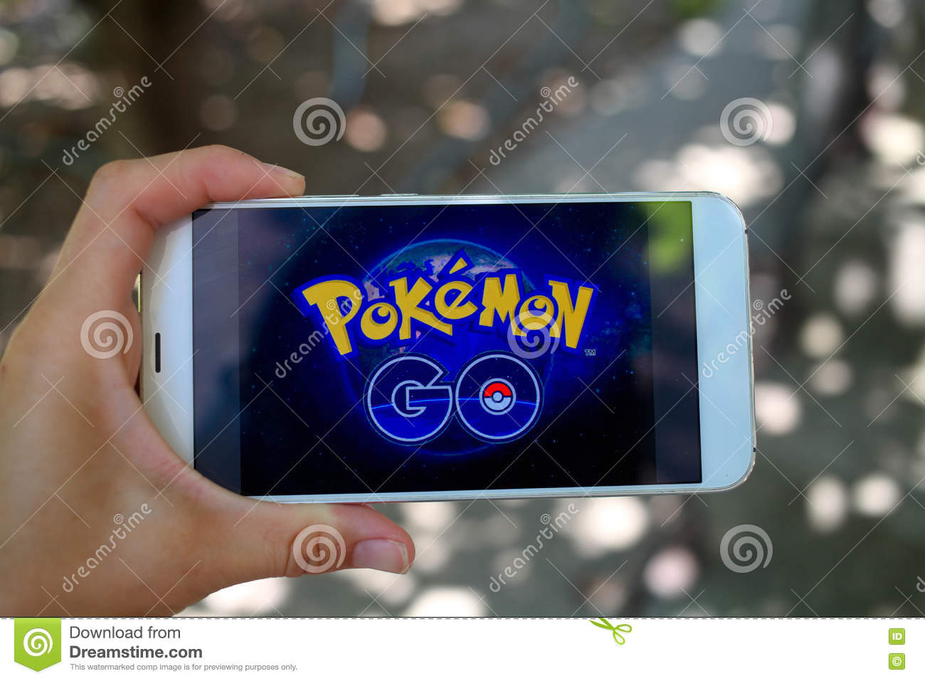 Krasnodar Russia On July 26 2016 Pokemon Go Is A Location Editorial Stock Photo Image Of Person Logo 75003483