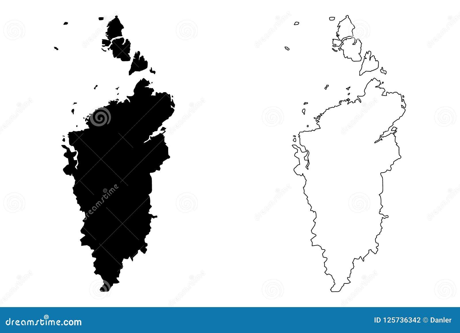 Krasnoyarsk Krai map vector