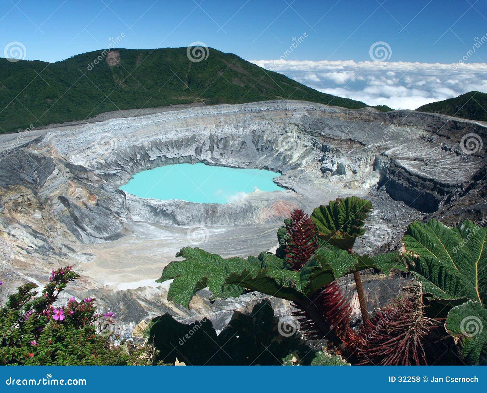 Krater en meer van Vulkaan Poas