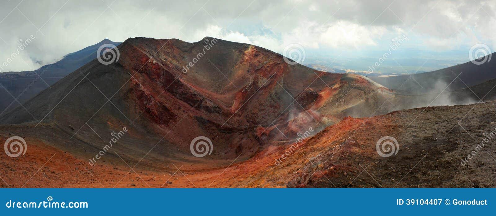 Krater van de vulkaan van Etna, Italië