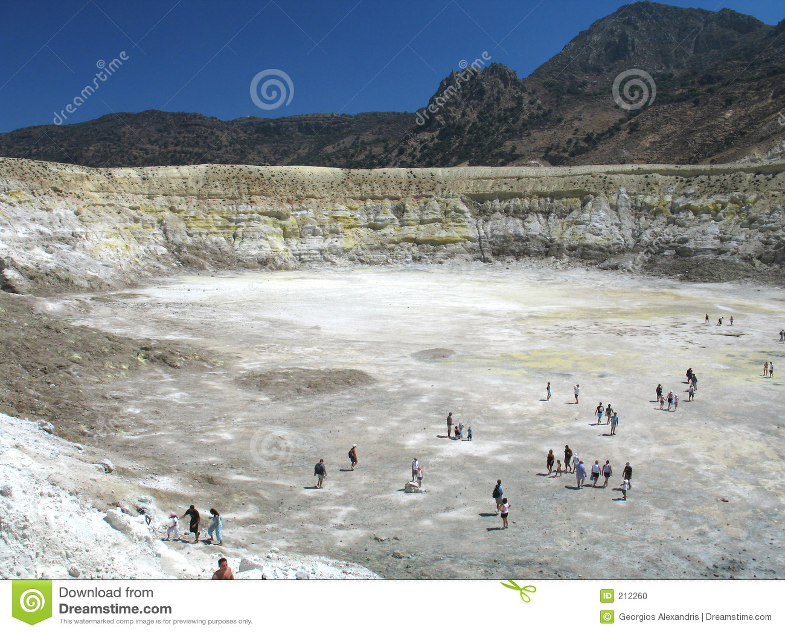 Krater wulkanicznego