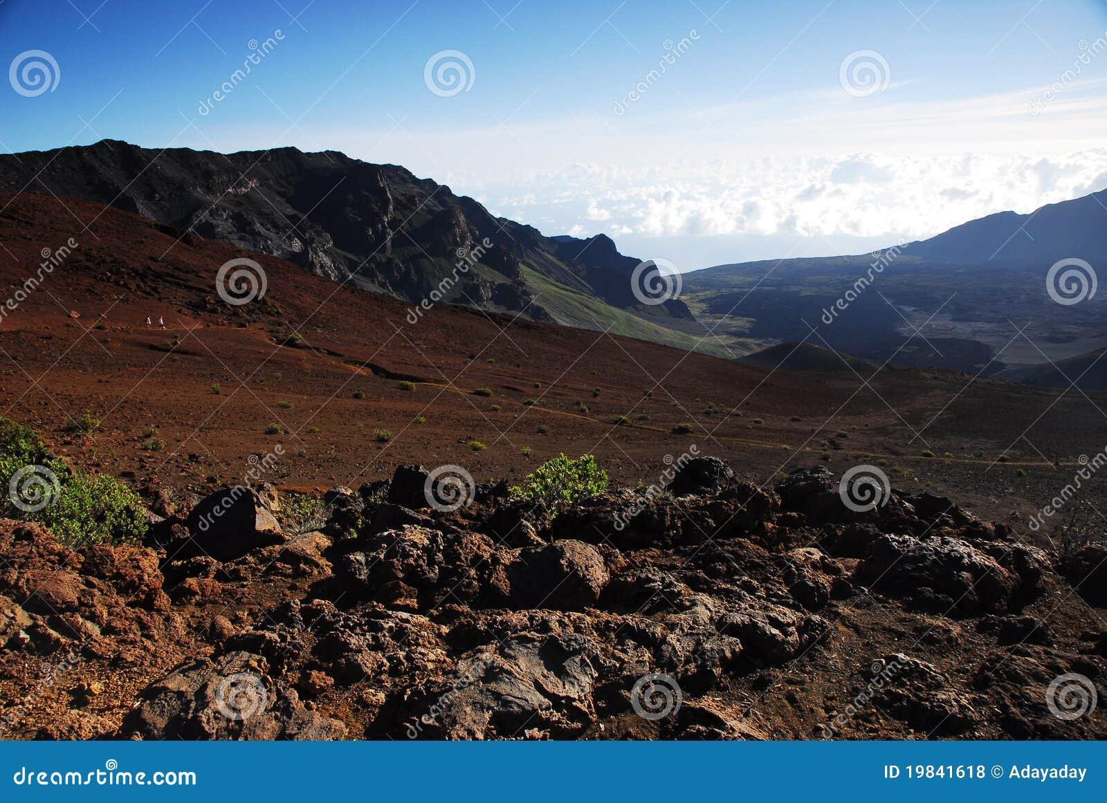 Kraters bij Nationaal Park Haleakala