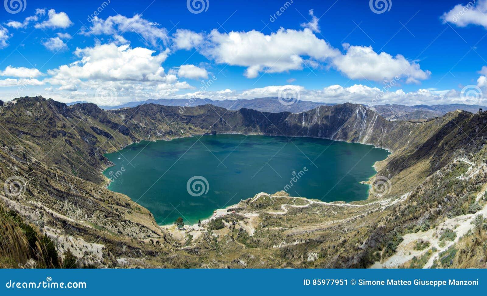Krateru Ecuador jeziora wulkan