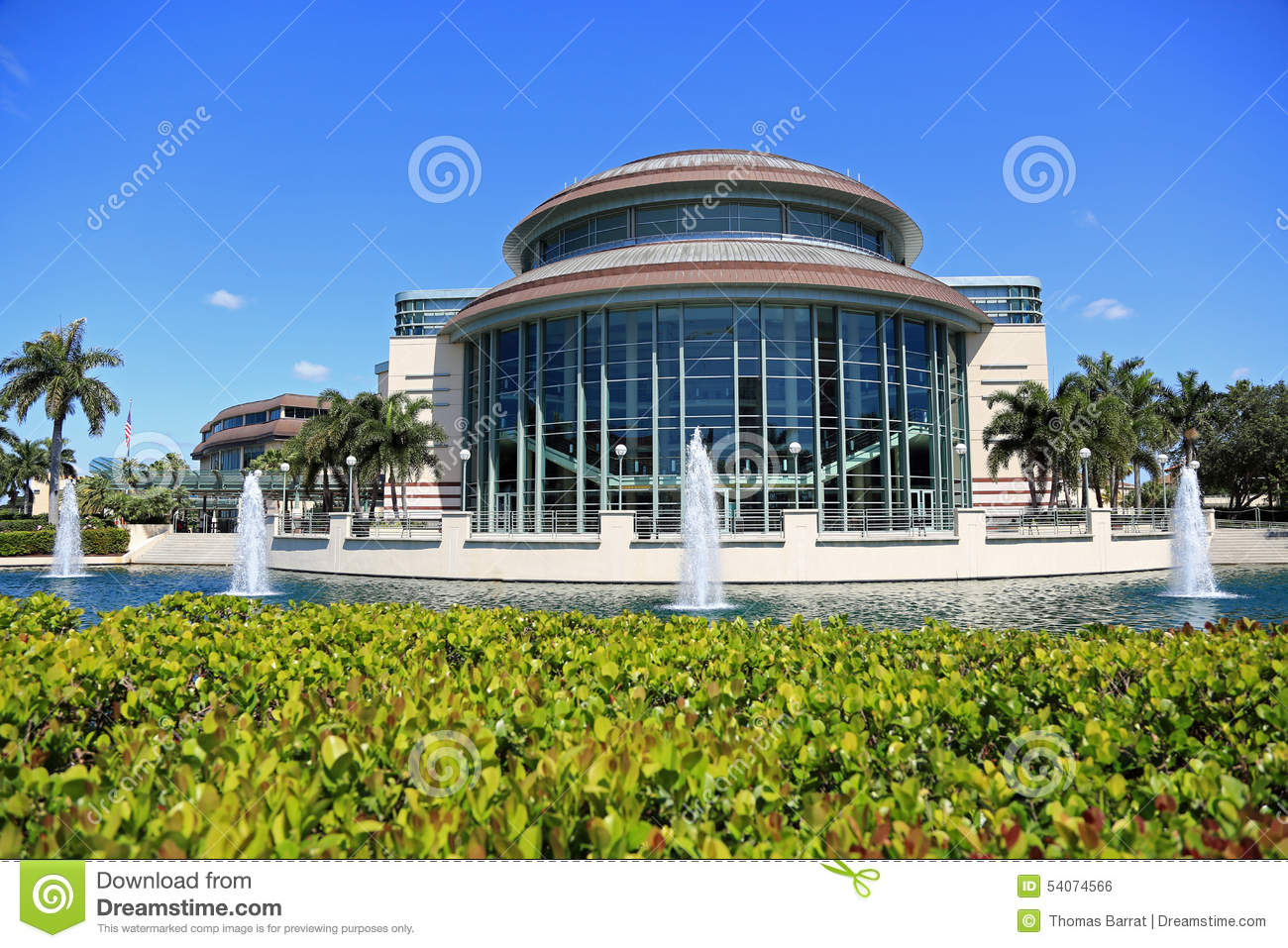 The Kravis Center In West Palm Beach Stock Photo - Image of palm ...