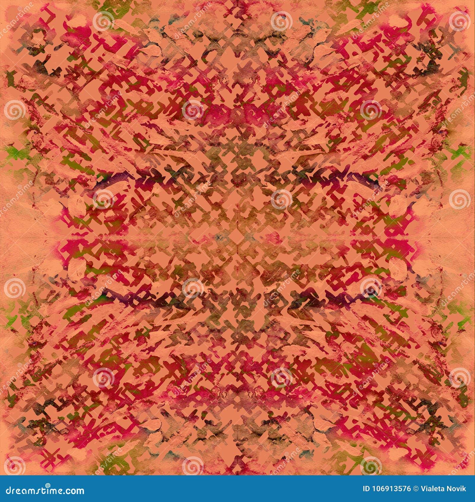 Krawata barwidła bezszwowy wzór Ręka rysujący shibori druk