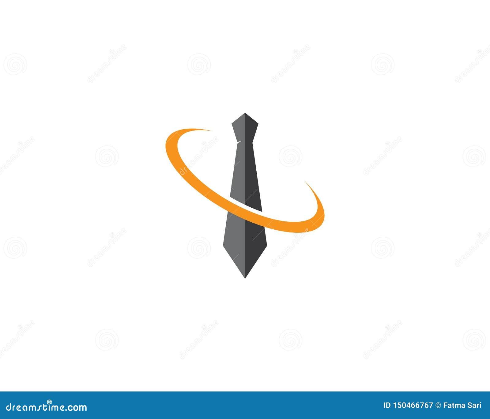 Krawata logo szablon
