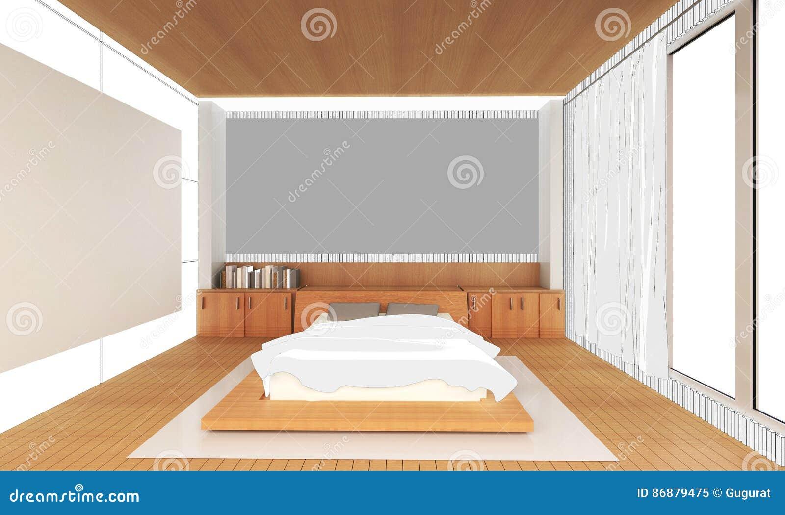 Kreślić Wewnętrznego Sypialnia Pomysłu Dom I Dekorację