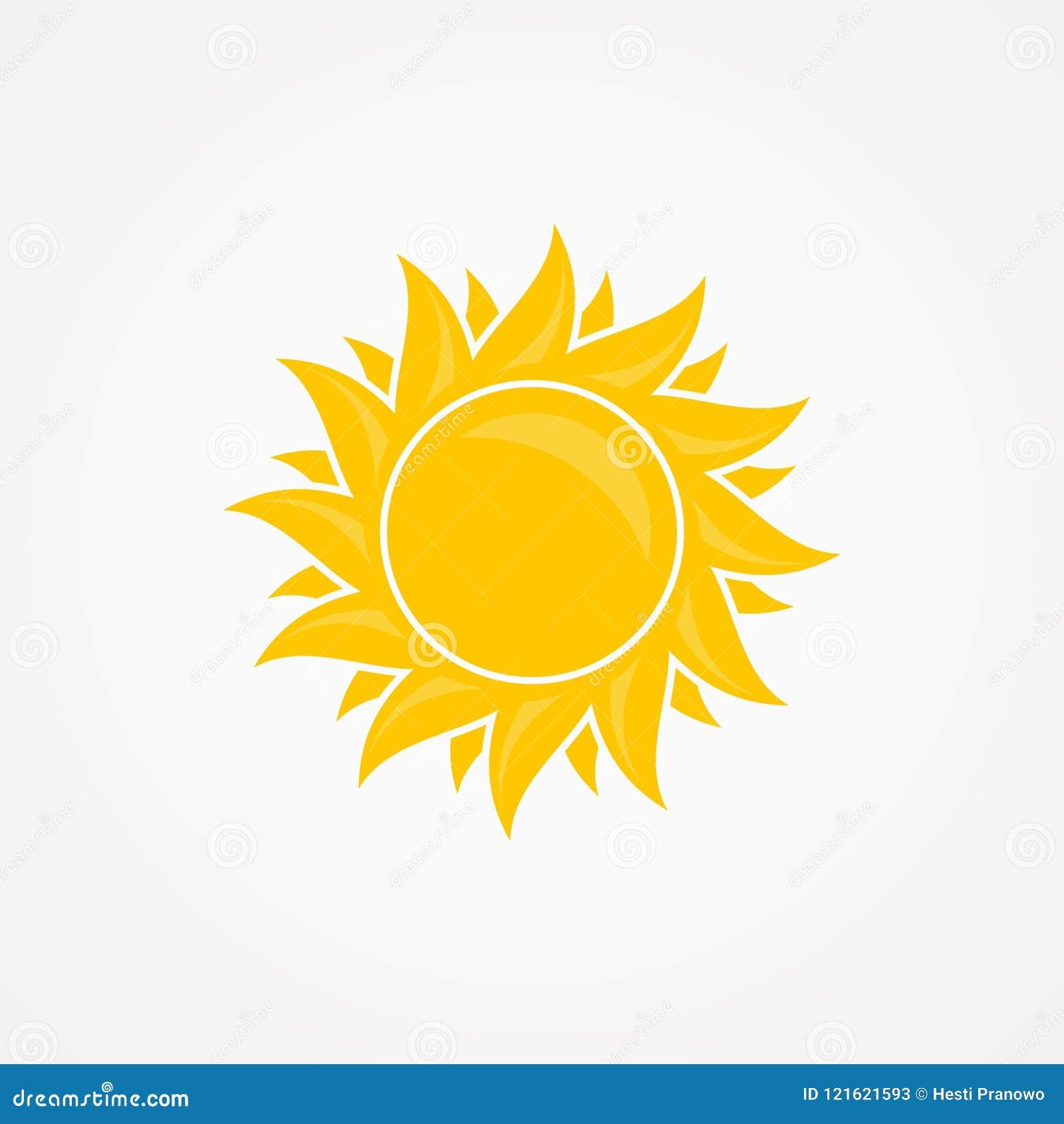 Kreativ, lokalisierte Illustration des Sonnenvektors Sommerikonendesign auf dem weißen Hintergrund