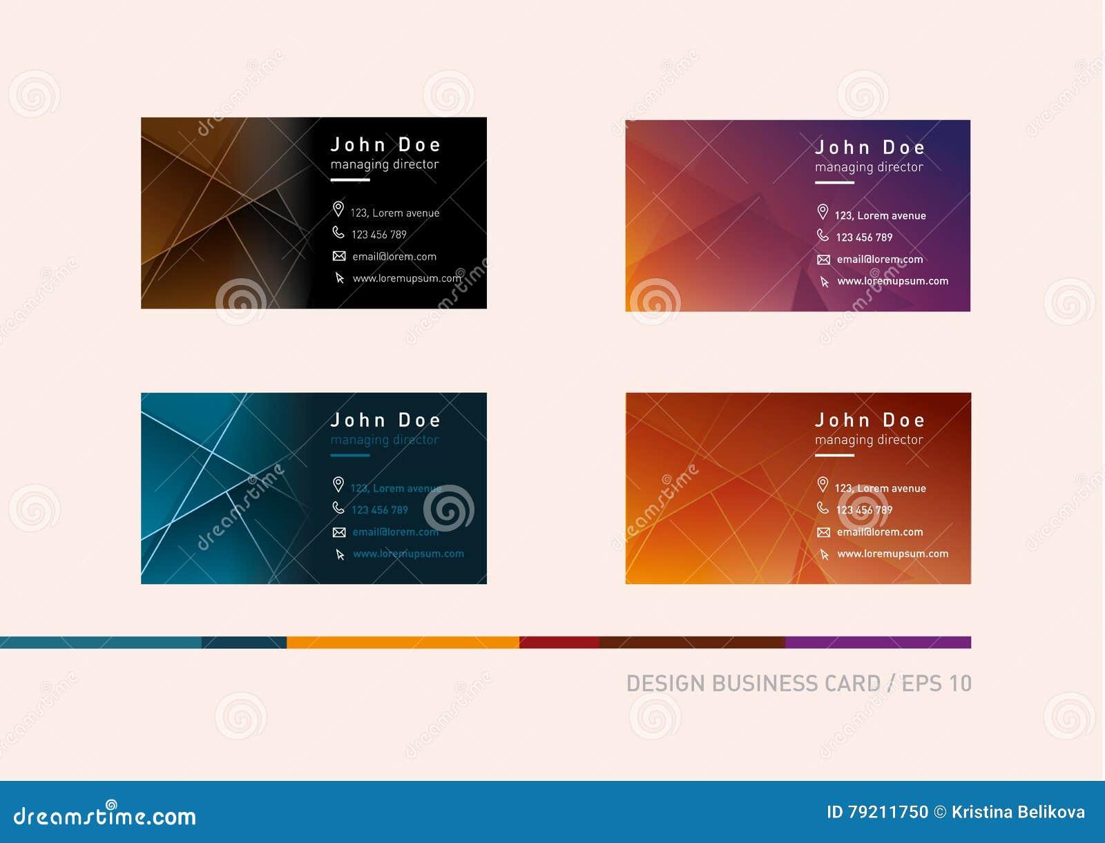 Kreative Entwicklung Von Visitenkarten In Einer Anderen