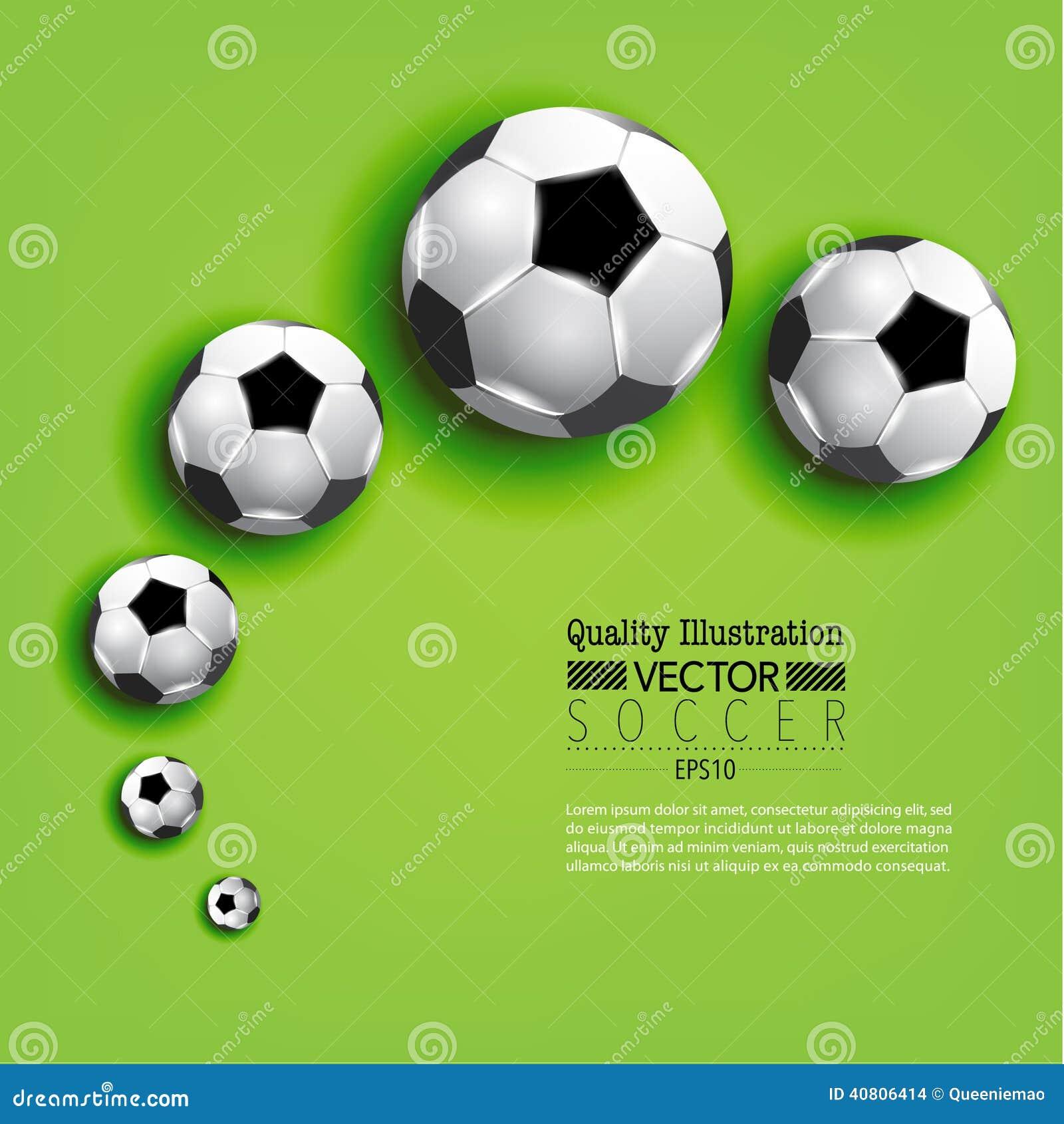 Kreative Fußball-Fußball-Sport-Vektor-Illustration