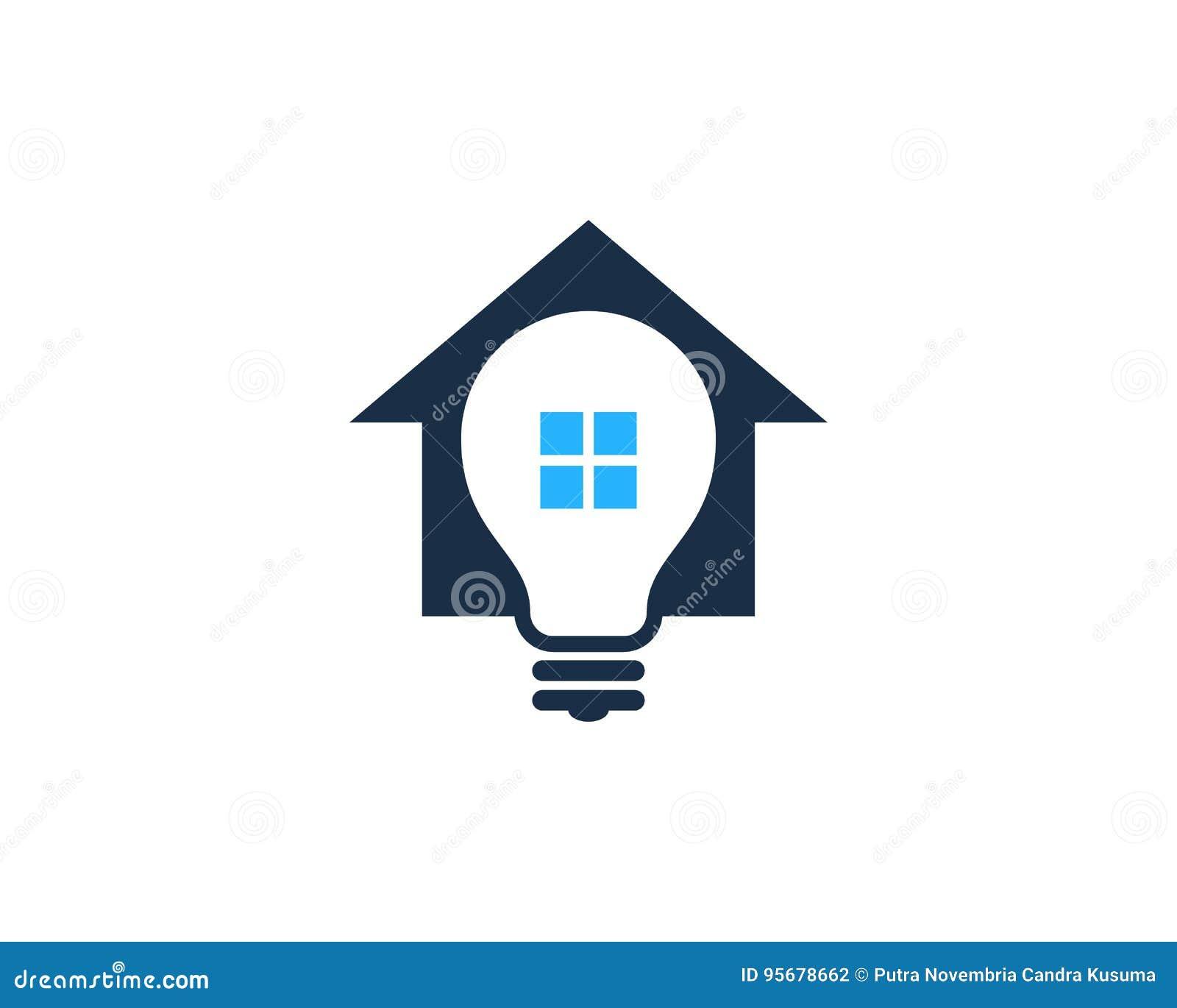 Kreative Ideen-Haus-Ausgangsikone Logo Design Element Vektor ...
