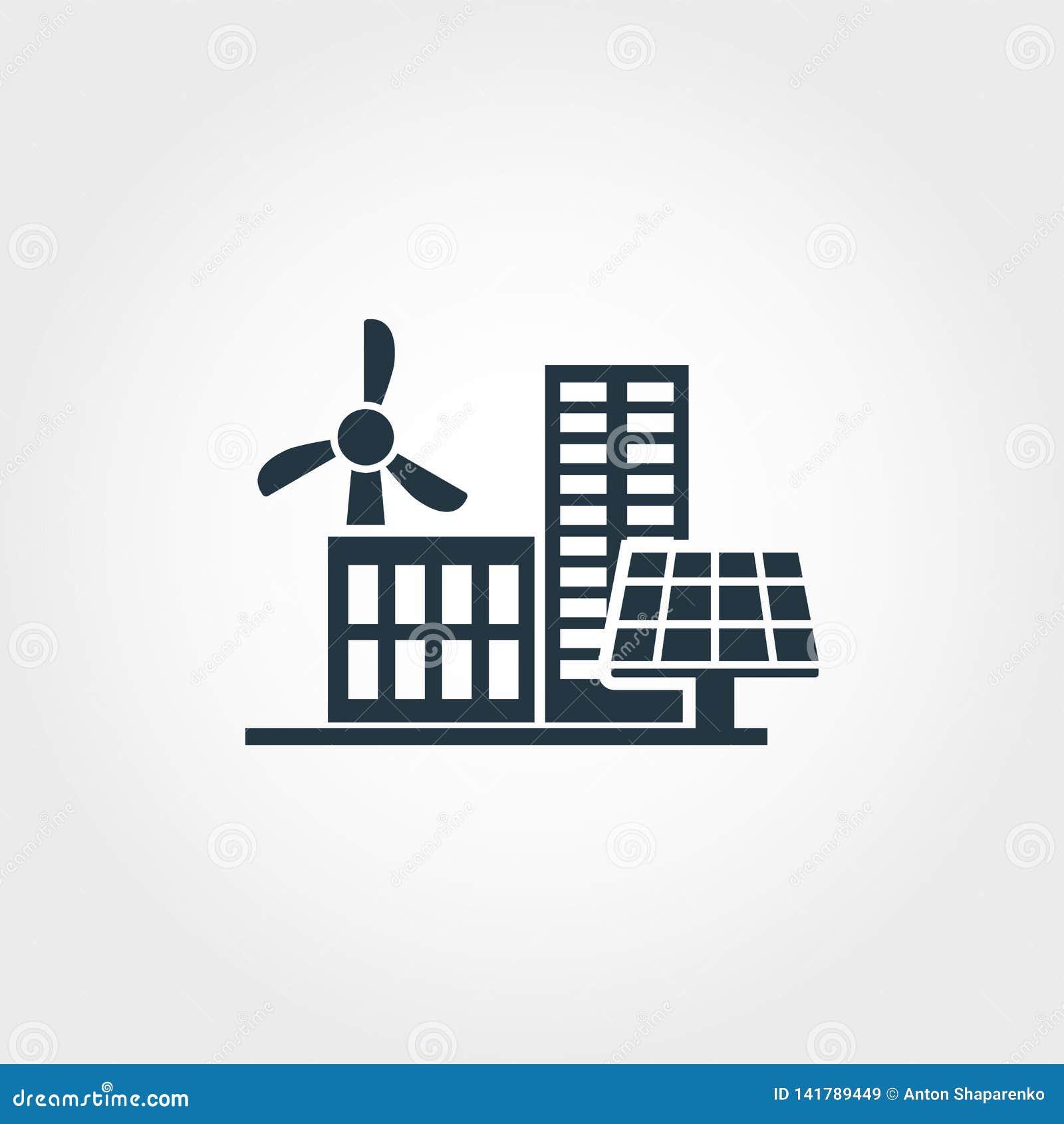 Kreative Ikone der Stadtentwicklung Einfarbiger Artentwurf von der Urbanismikonensammlung Stadtentwicklungsikone für Netz