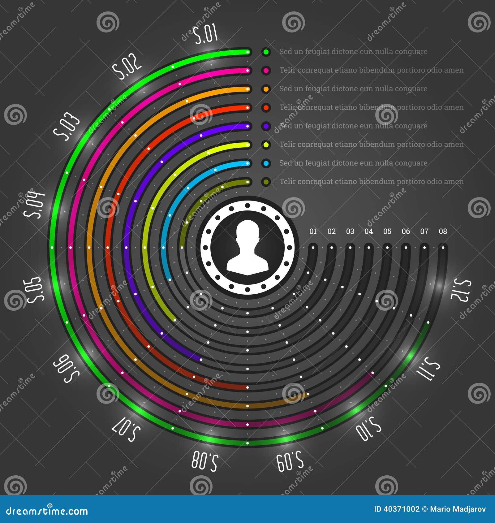 Kreative Infographics-Vektor-Schablone. Kreis Hält Diagramm Ab ...