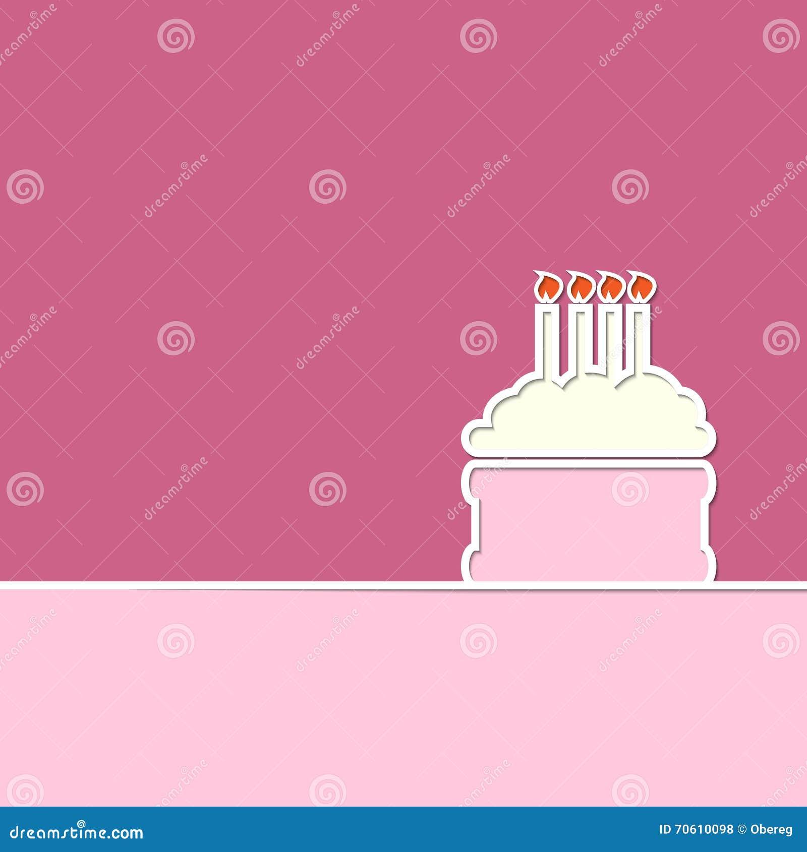 Kreative Linie Kuchen Und Kerzen Alles Gute Zum Geburtstag Zacken