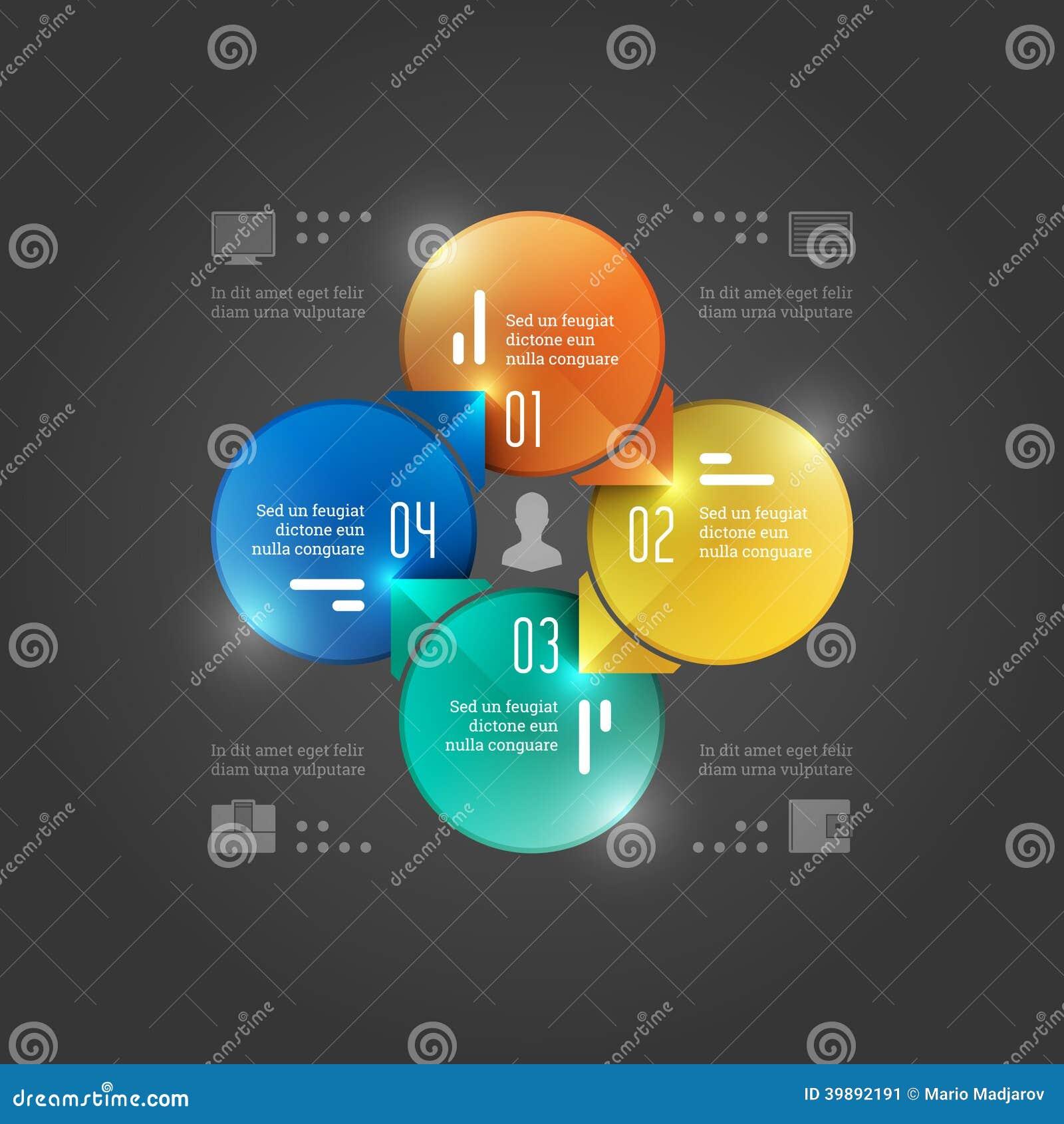 Kreative Vektor Infographics-Schablone. Kreis-Diagramm. Konzept ...
