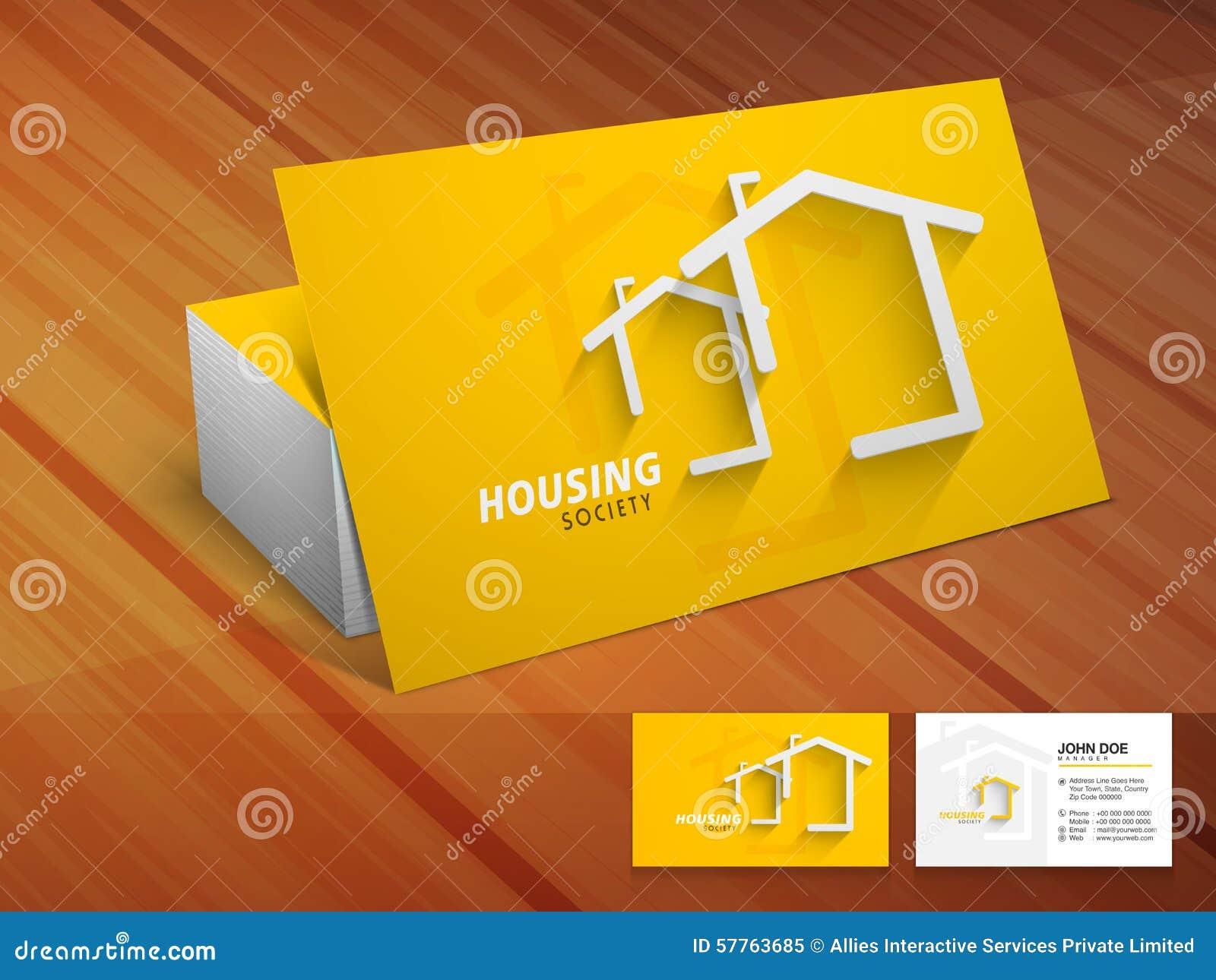 Kreative Visitenkarte Für Die Unterkunft Der Gesellschaft