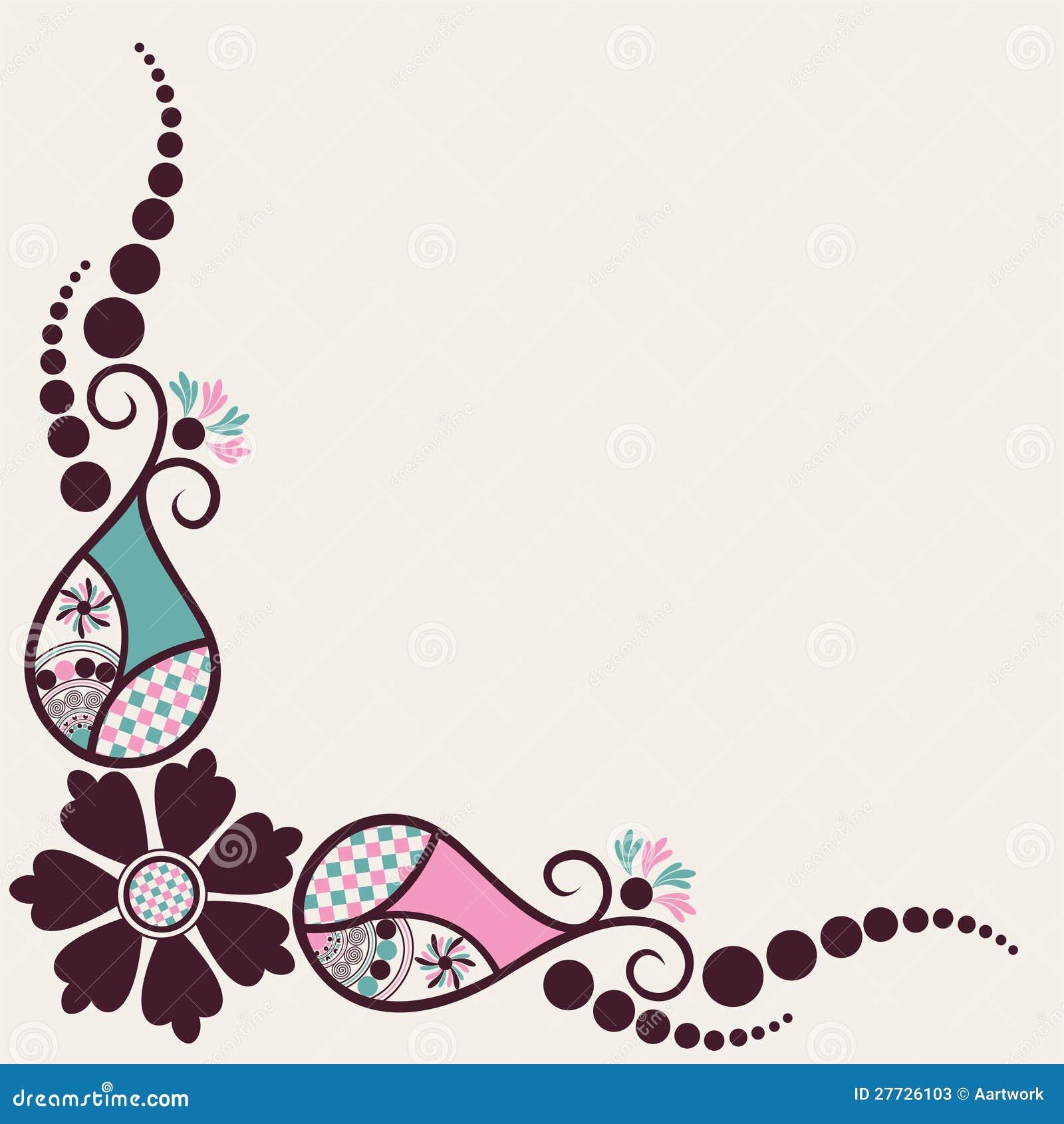 Kreativer Blumen- und Zweighintergrund