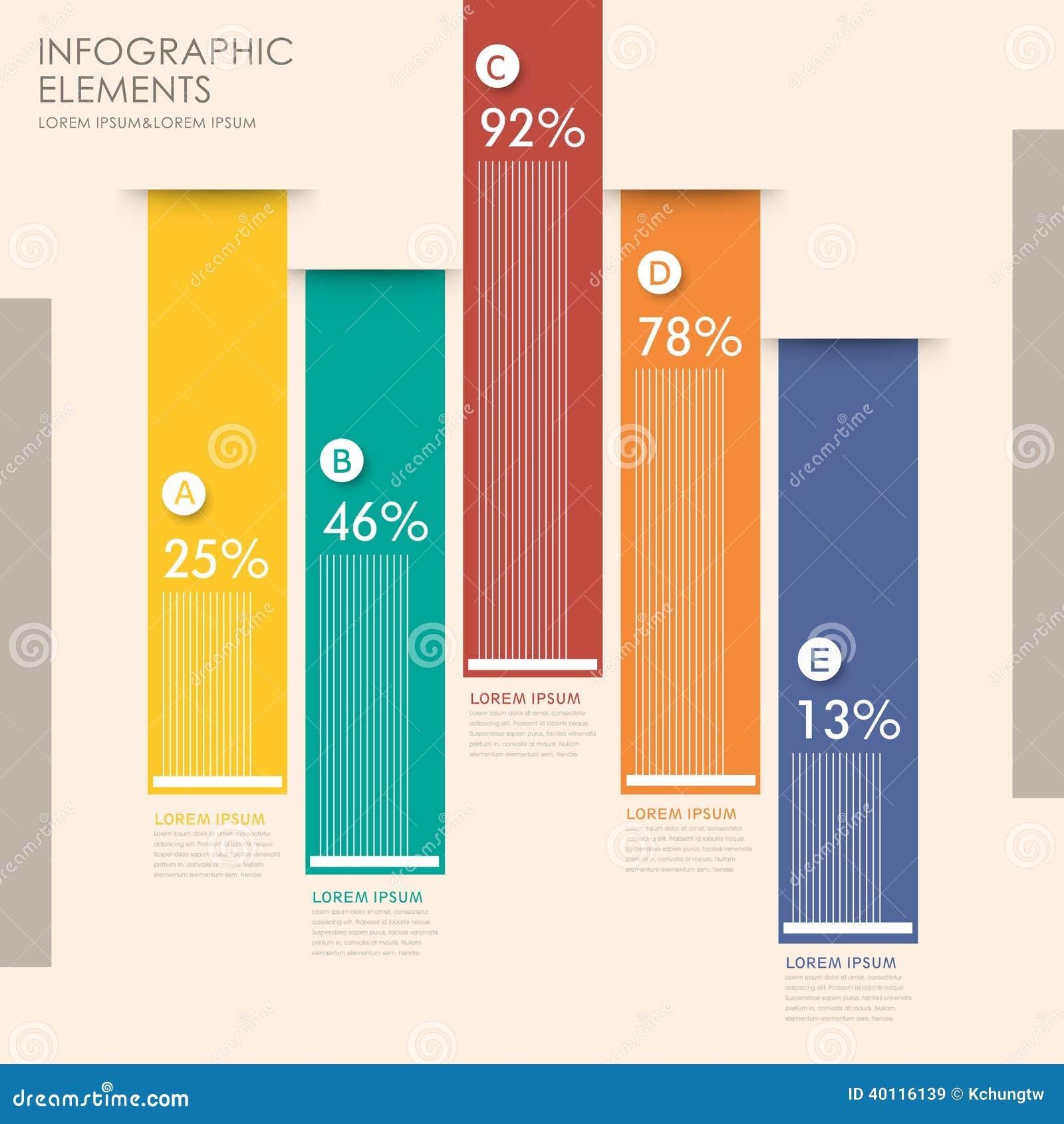 Kreatives Balkendiagramm Infographics Design Vektor Abbildung ...