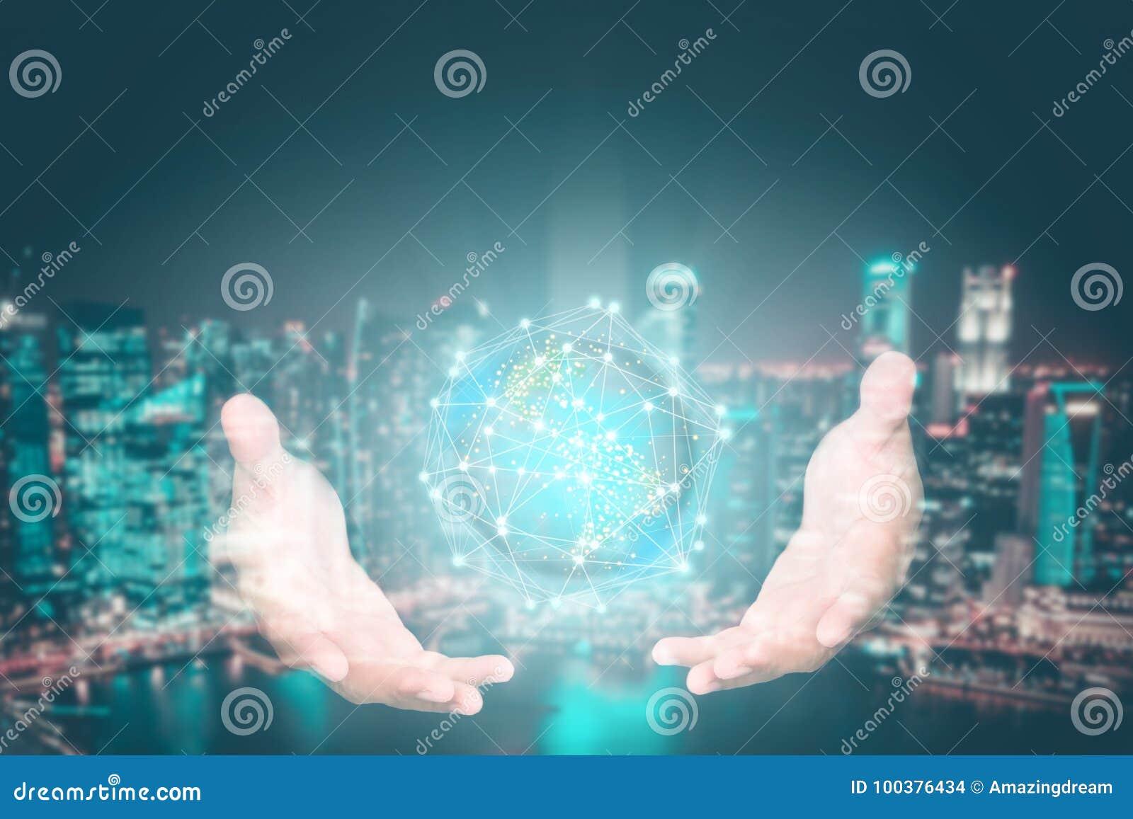 Kreatywnie abstrakcjonistyczny technologii tło, Nowatorski, pomysł i futurystyczny myślący pojęcie