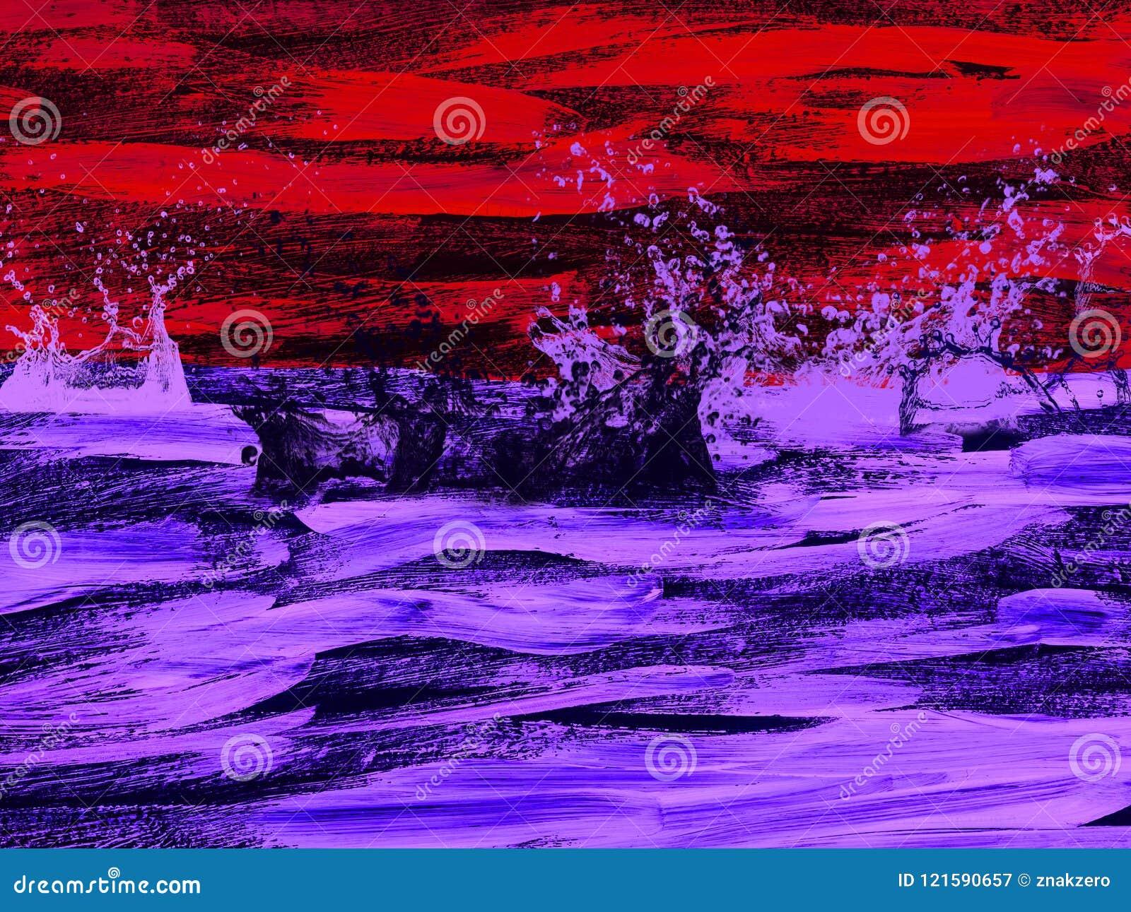 Kreatywnie abstrakt malował tło, tapeta, tekstura nowoczesna sztuka Dzisiejsza ustawa