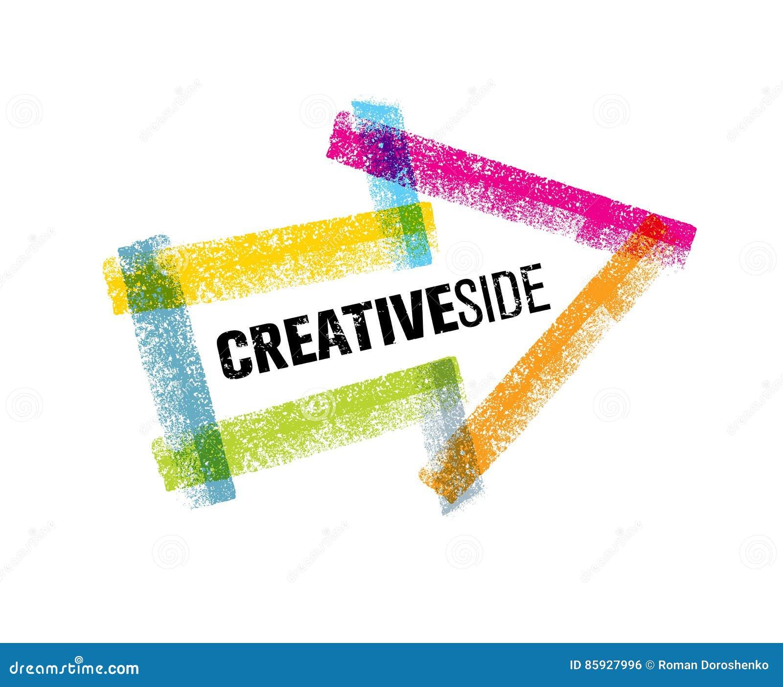 Kreatywnie Bocznej sztuki projekta Kolorowy Strzałkowaty Wektorowy element