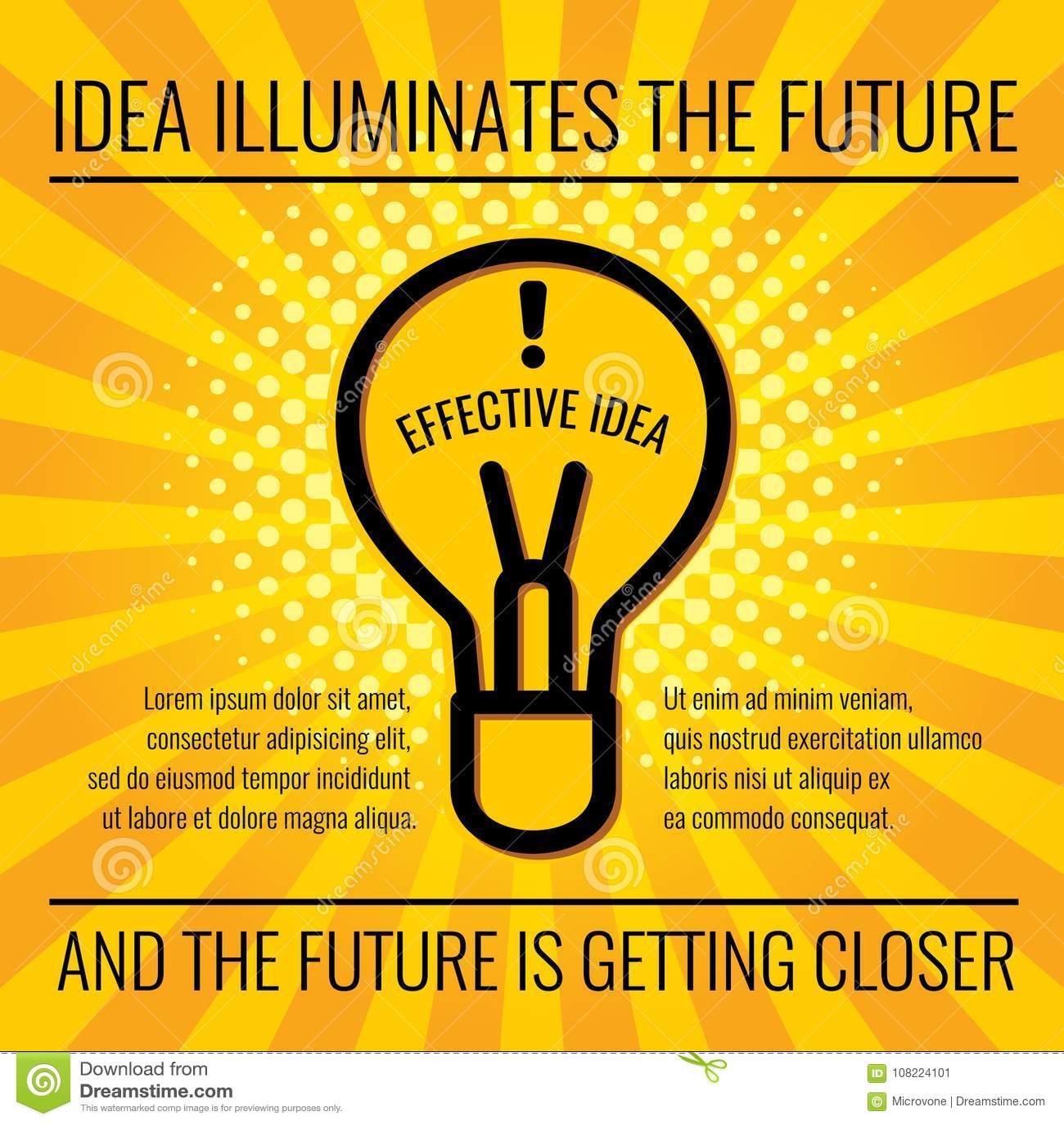 Kreatywnie pomysłu pojęcia wektorowy biznesowy tło