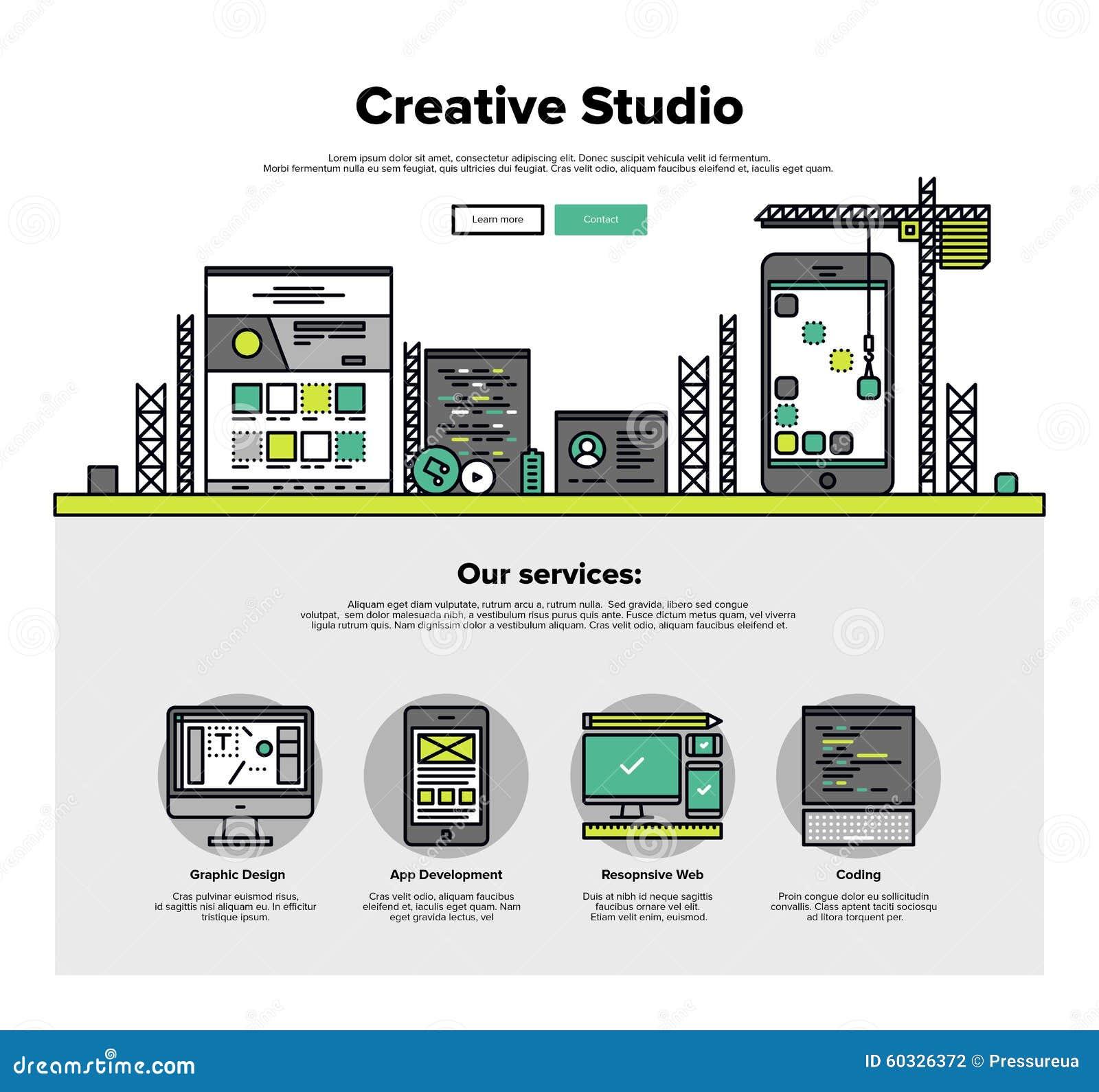 Kreatywnie pracowniane mieszkanie linii sieci grafika