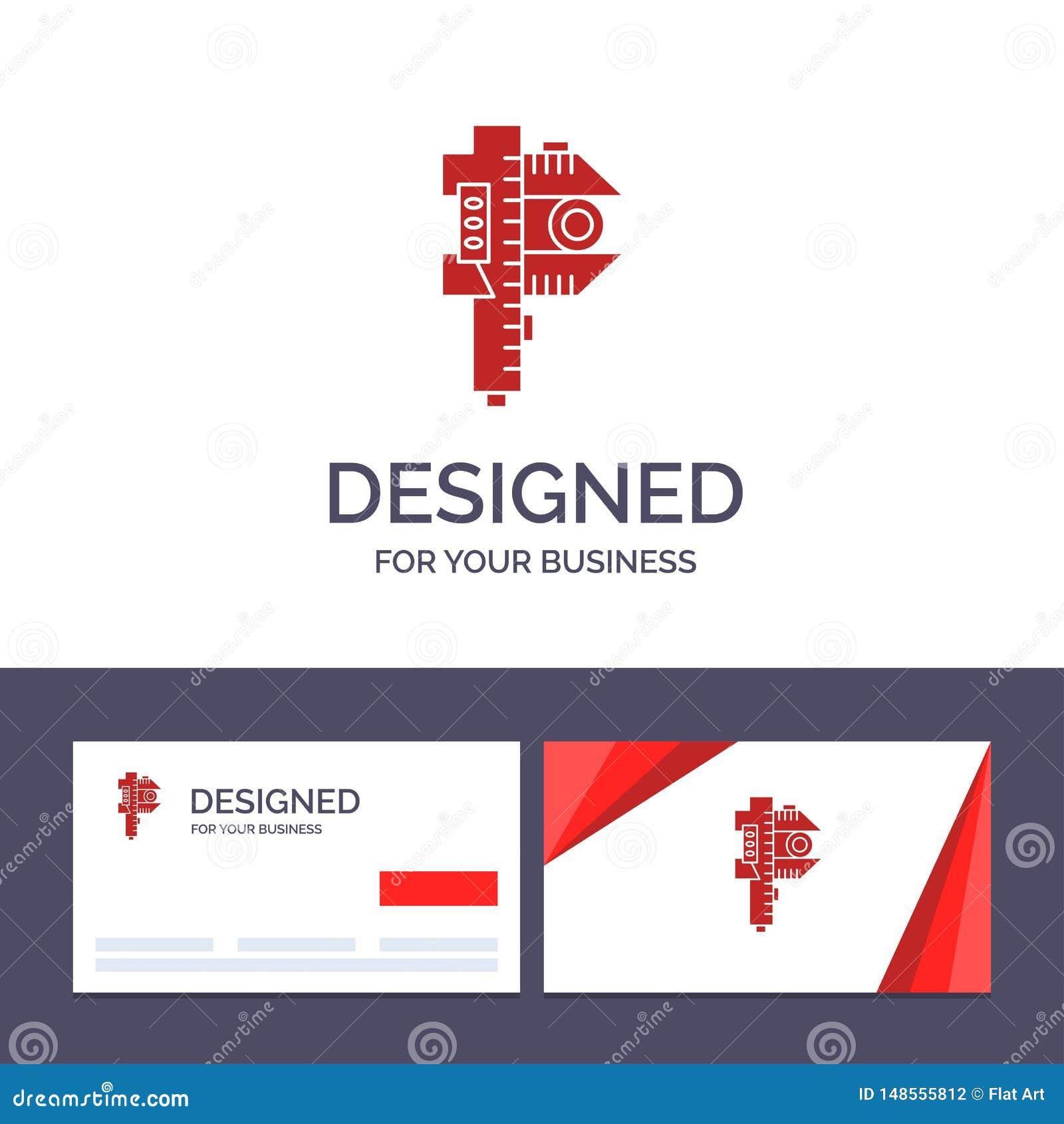Kreatywnie wizytówki i logo szablon Mierzy, dokładność, miara, Mała, Malutka Wektorowa ilustracja,