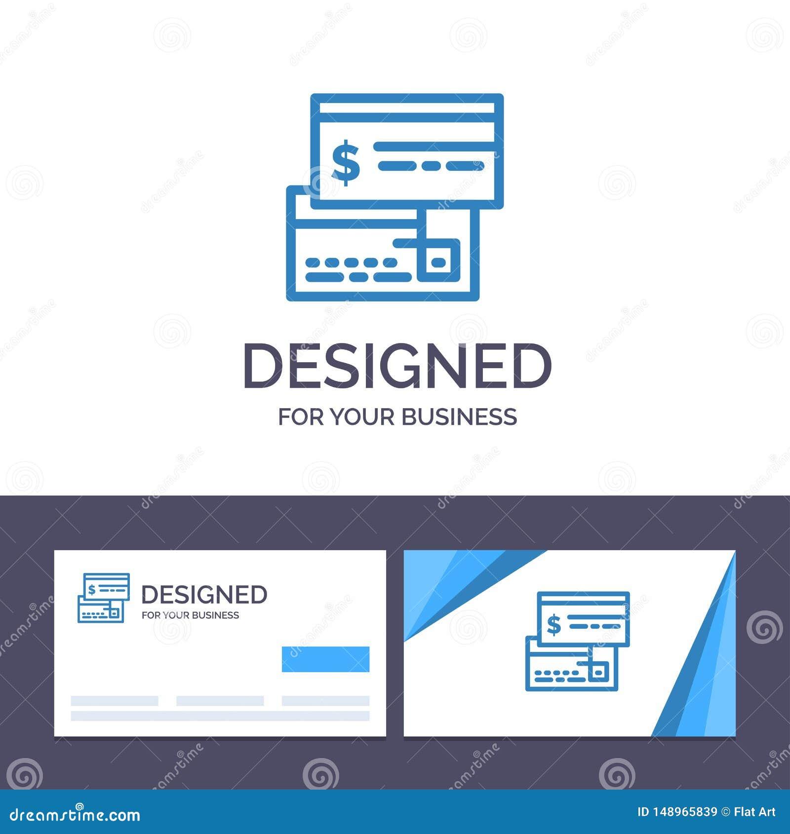 Kreatywnie wizytówki i logo szablonu Bezpośrednia zapłata, karta, kredyt, debet, Bezpośrednia Wektorowa ilustracja