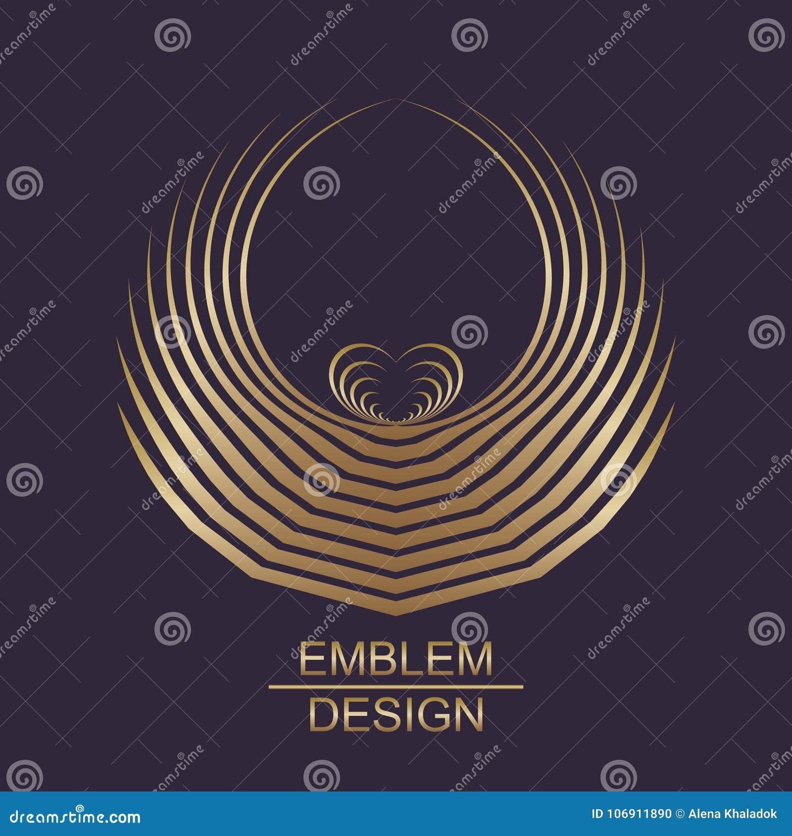 Kreatywnie złocisty geometryczny symbol