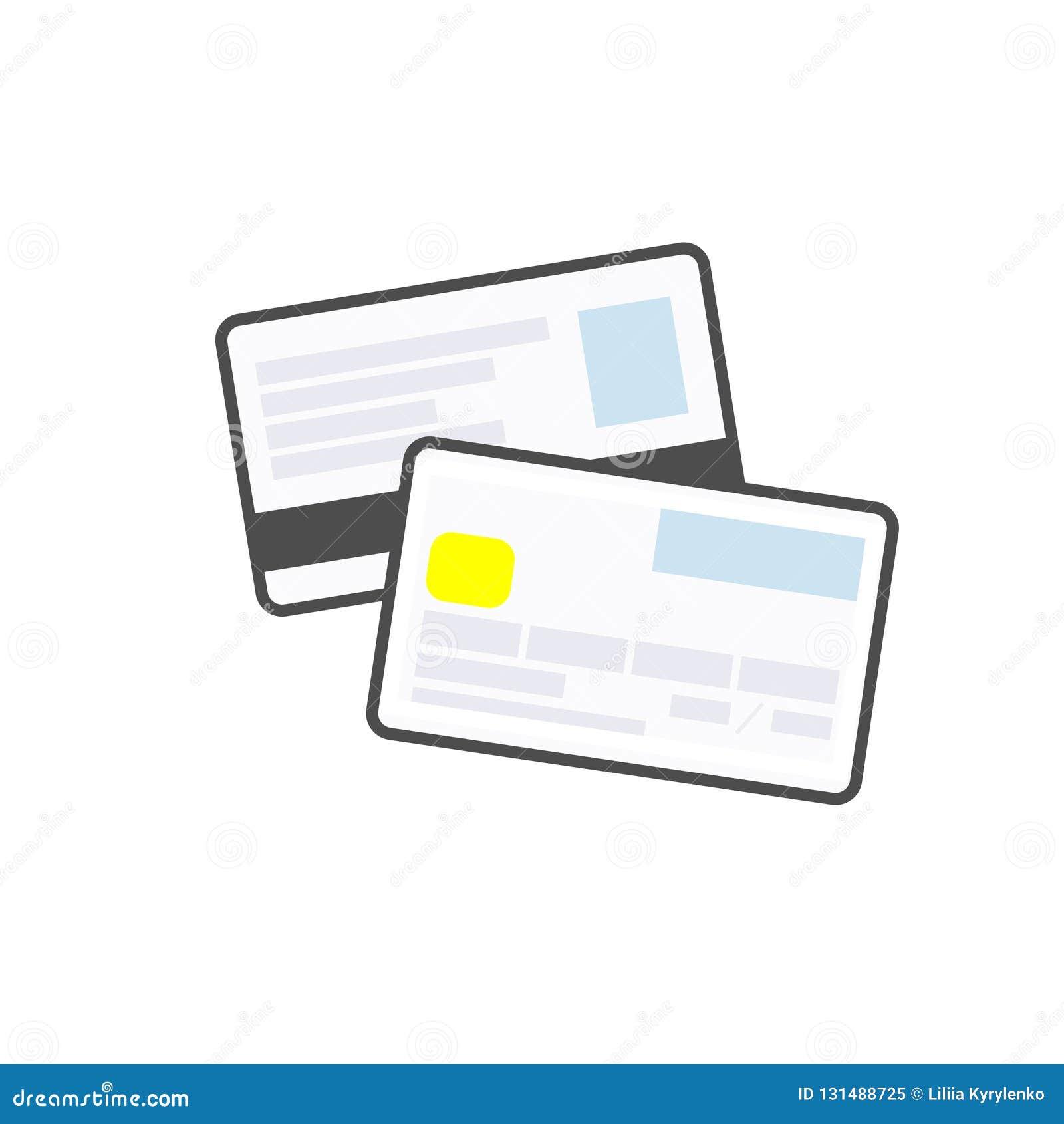 Krediet of debetkaart lineair modern pictogram Betalingsmethode