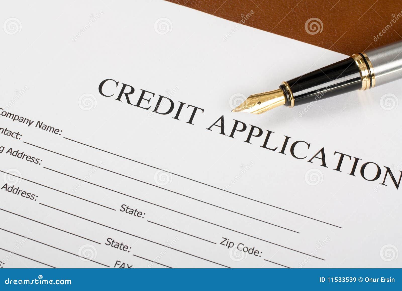 Kreditantrag-Formular stockbild. Bild von gesetz, zugelassen - 11533539