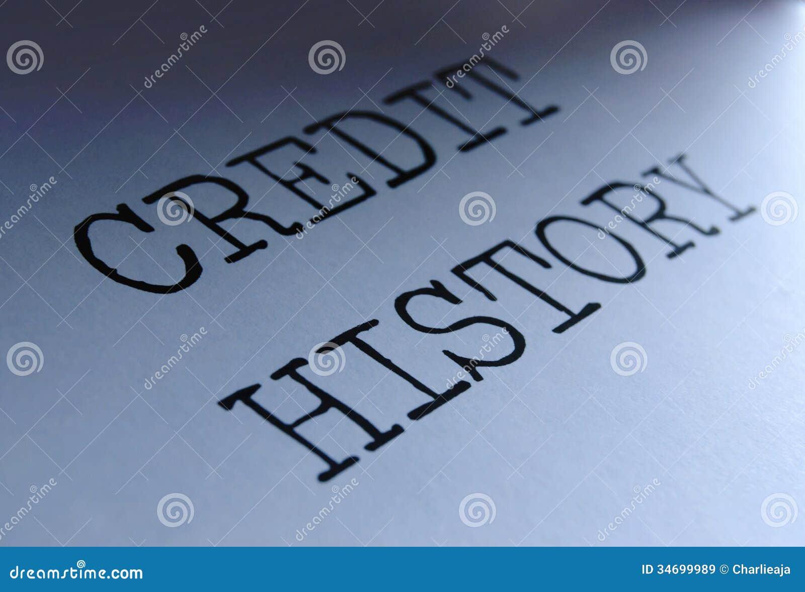 Krediteringshistoria
