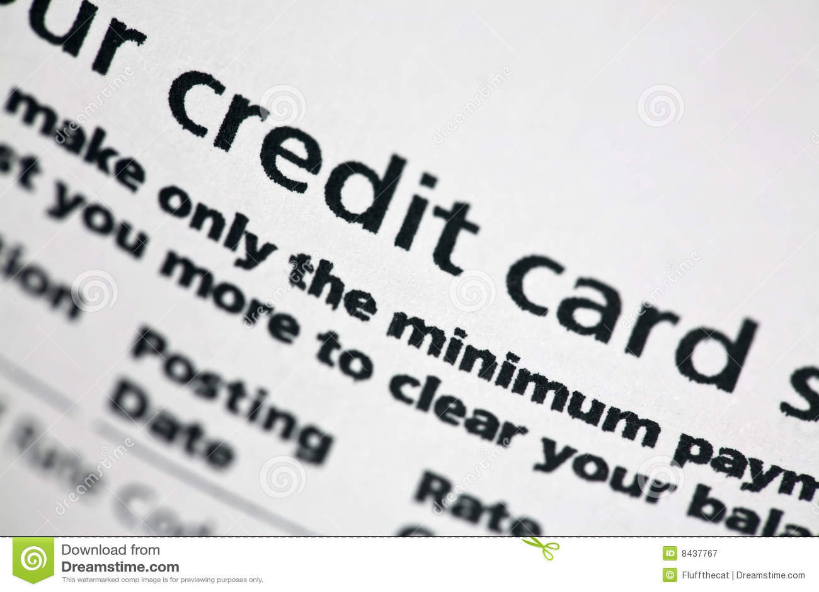 Kreditkarte-Anweisung