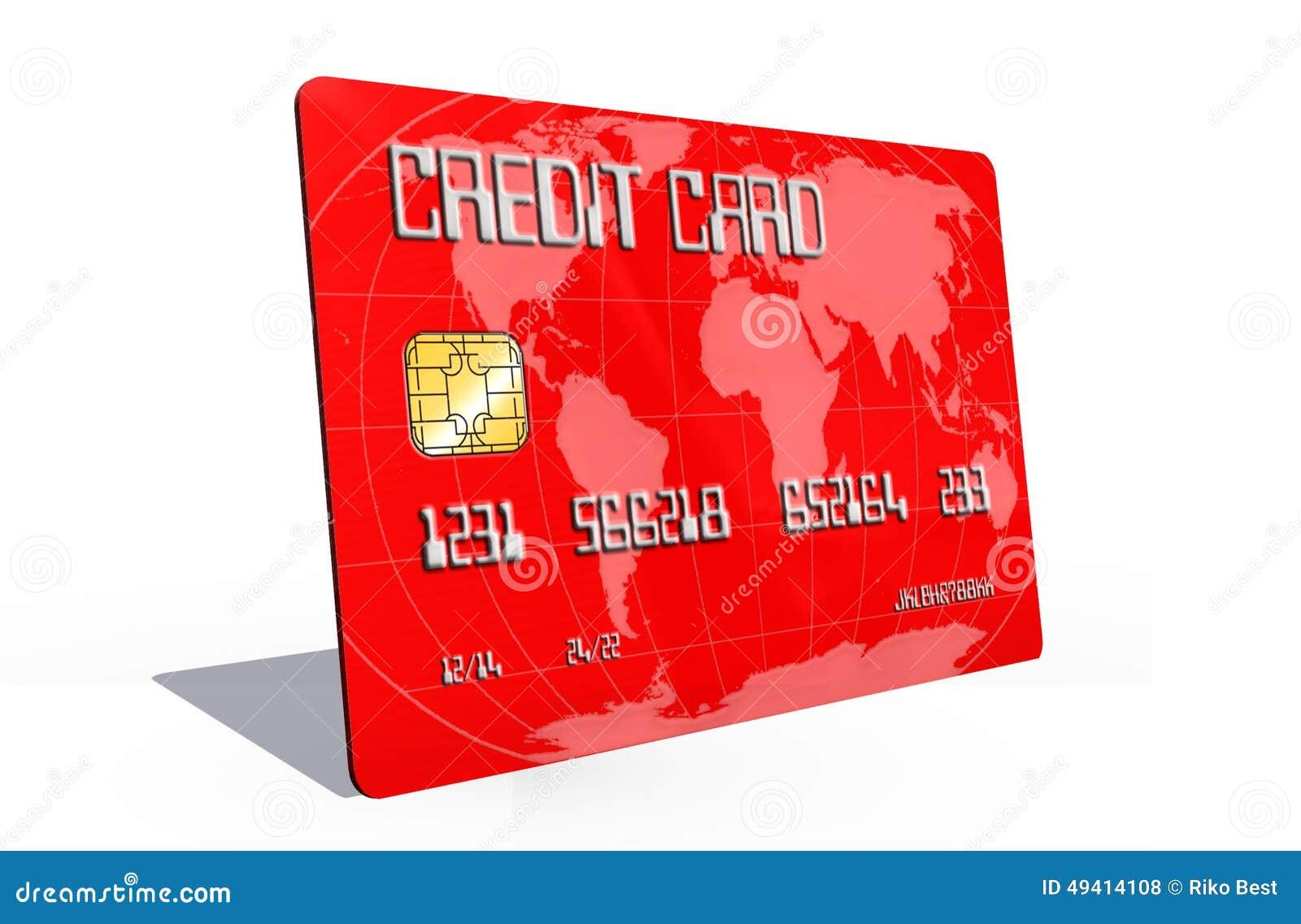 Download Kreditkarte Auf Weißem Hintergrund Stock Abbildung - Illustration von weiß, geld: 49414108